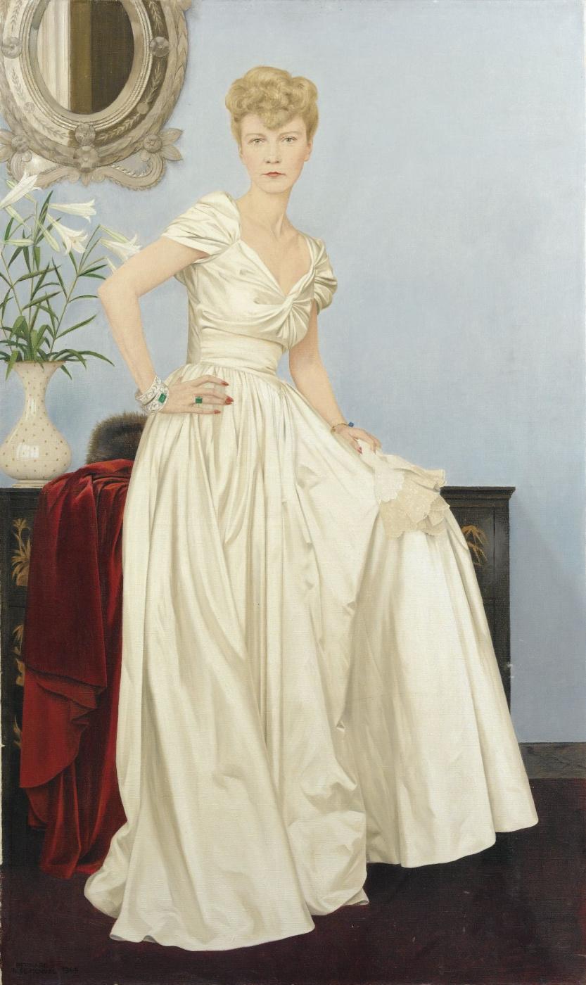 Бернар Буте де Монвель. Герцогиня Бриссак в вечернем платье