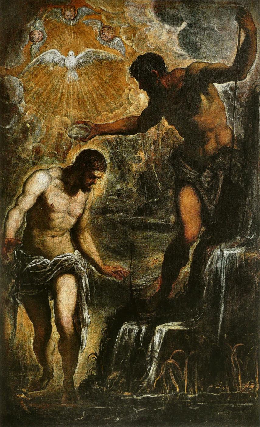 Якопо Тинторетто. Крещение Христа