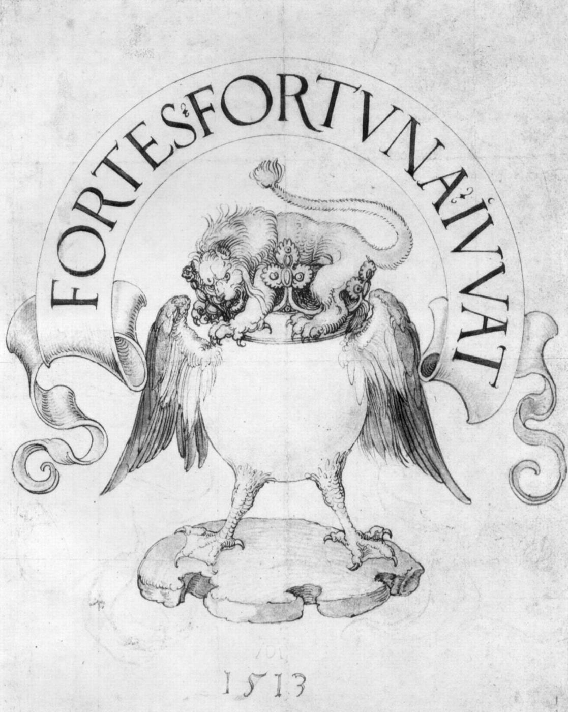 Albrecht Dürer. A sketch for the book.(Lion)