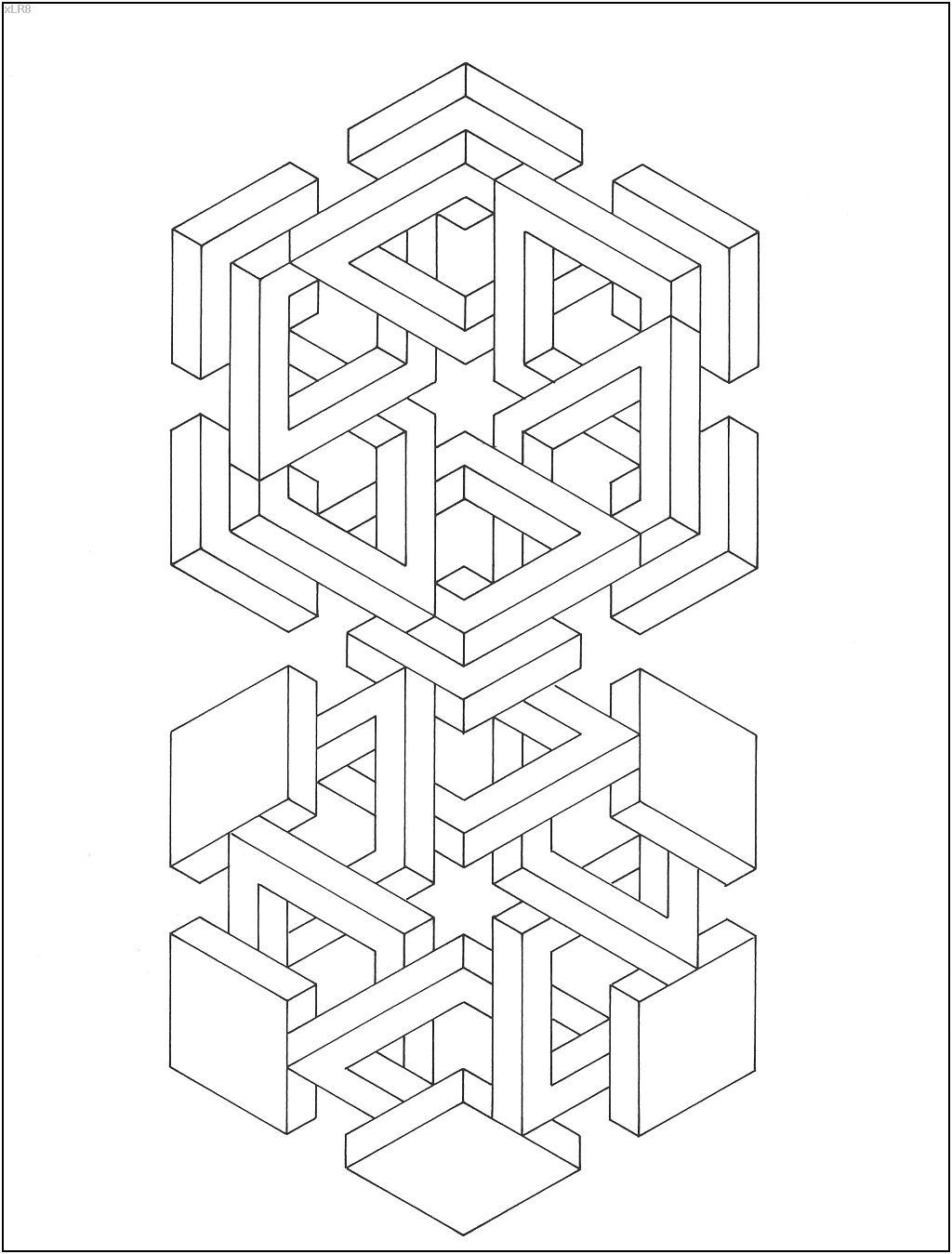 Koichi Sato. Optical illusion 28