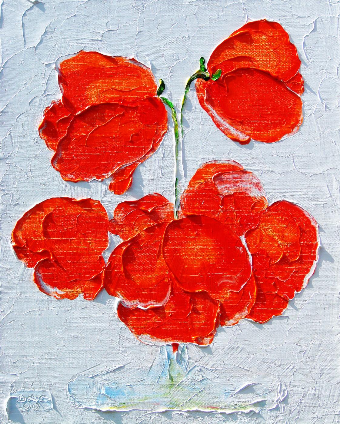 Kandinsky-DAE. Poppies. Oil on canvas, 50-40, 2006.