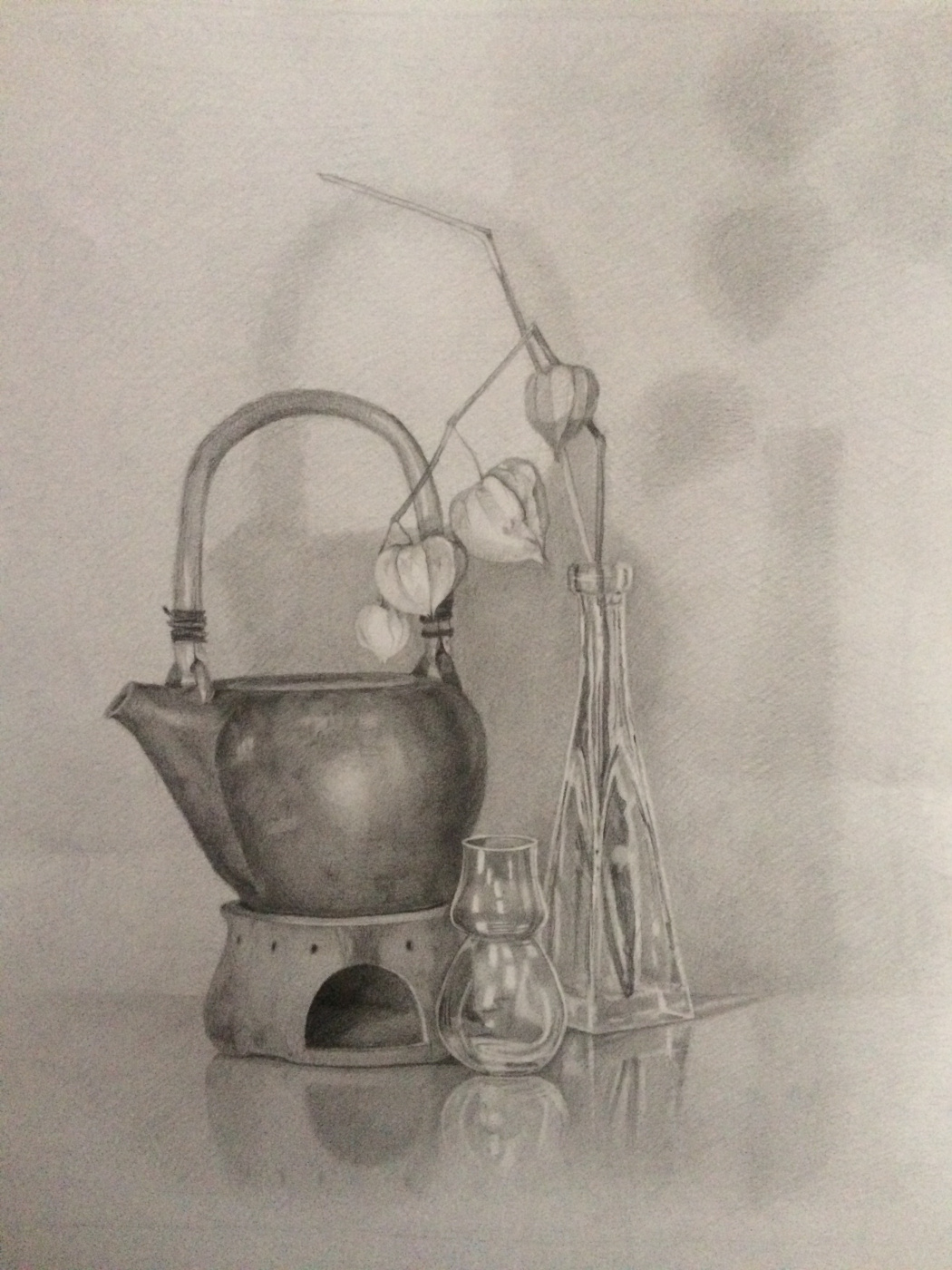 Diana Schegiriova. Still Life with Ceramic Teapot