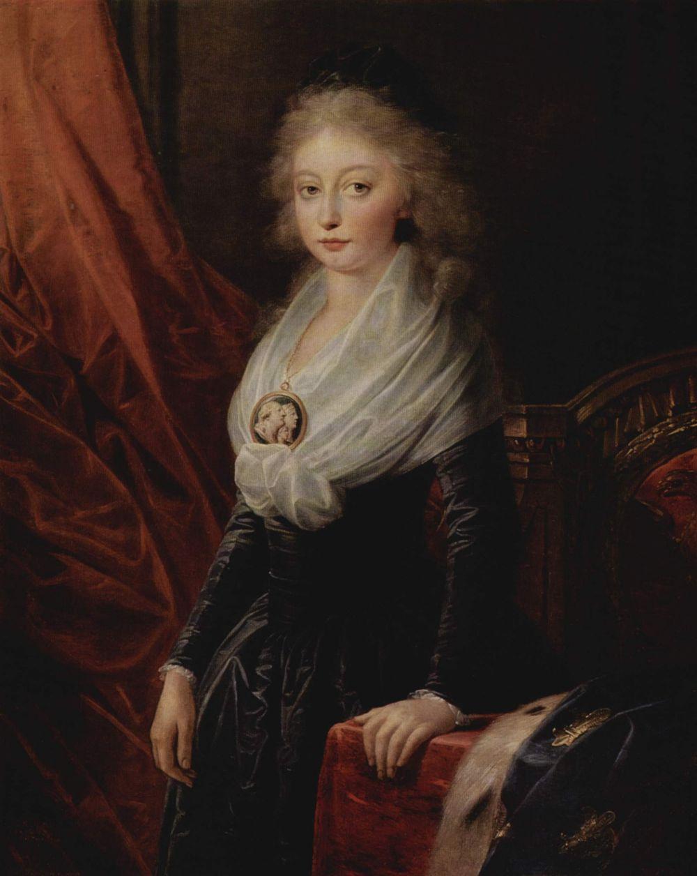 Henry Friedrich Füger. Portrait of Maria Theresa de Bourbon