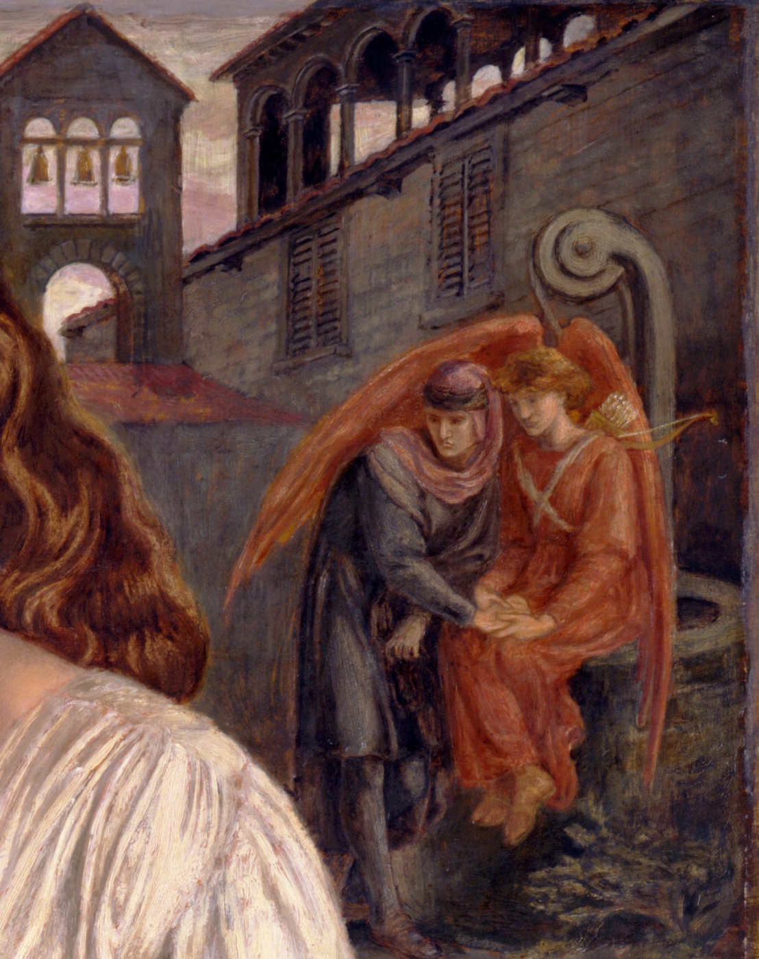 Dante Gabriel Rossetti. The Salutation Of Beatrice. Fragment