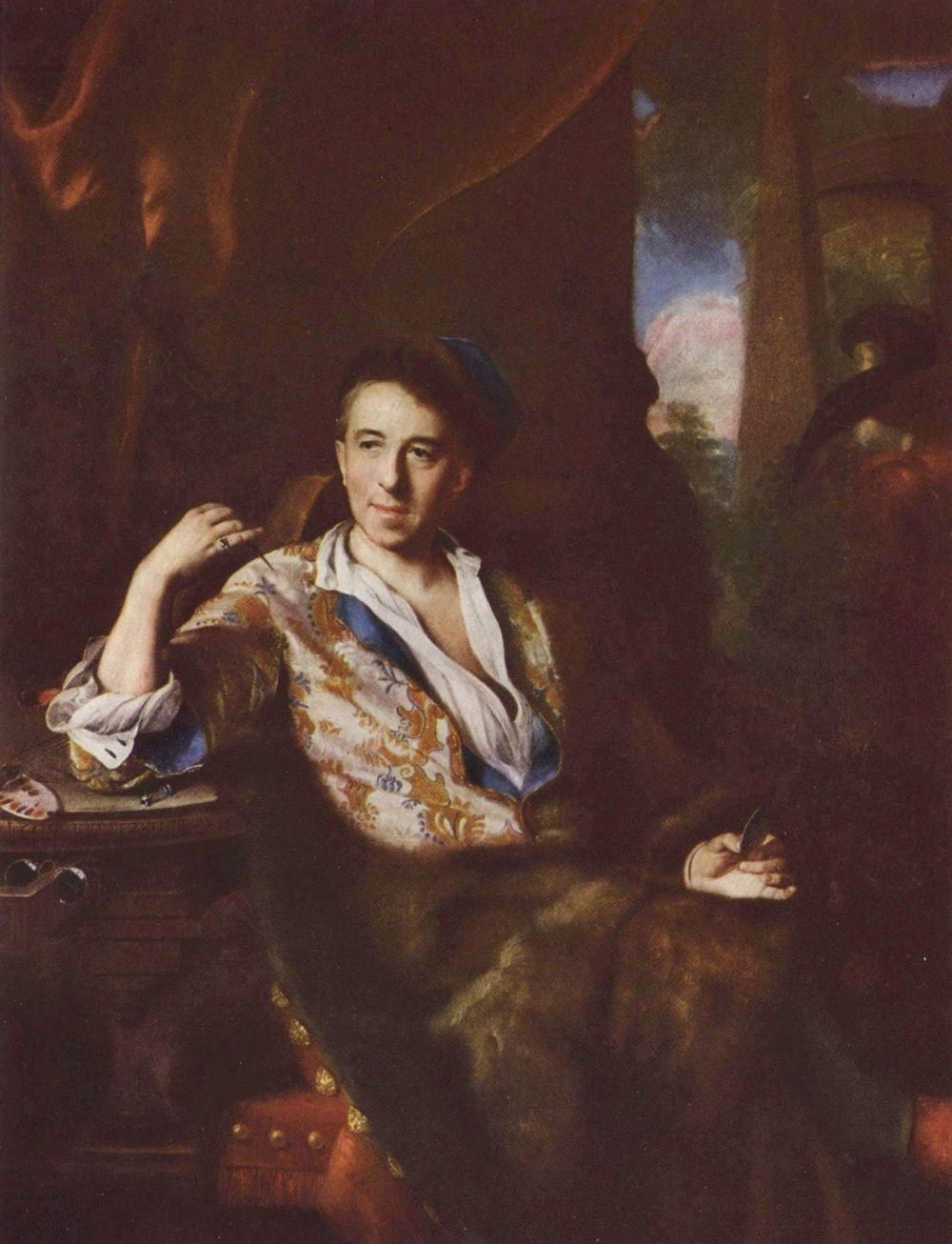 Johann (Jan) Kupetsky. Portrait of the artist-miniaturist K. Bruni