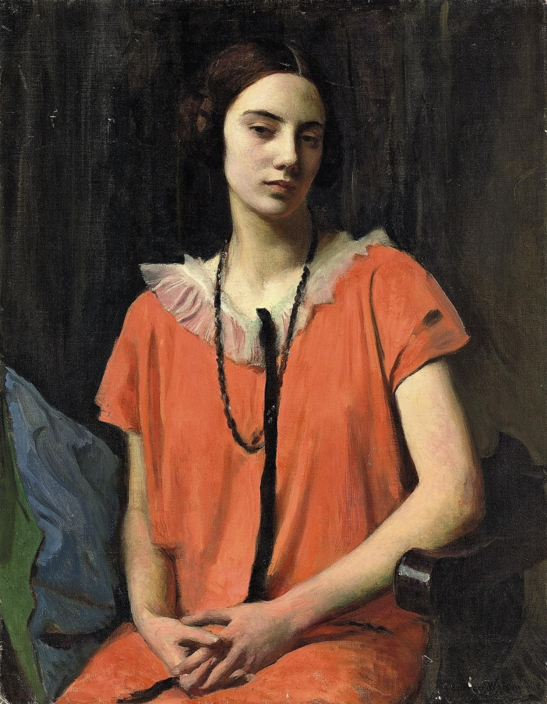 George Spencer Watson. Orange dress. 1926