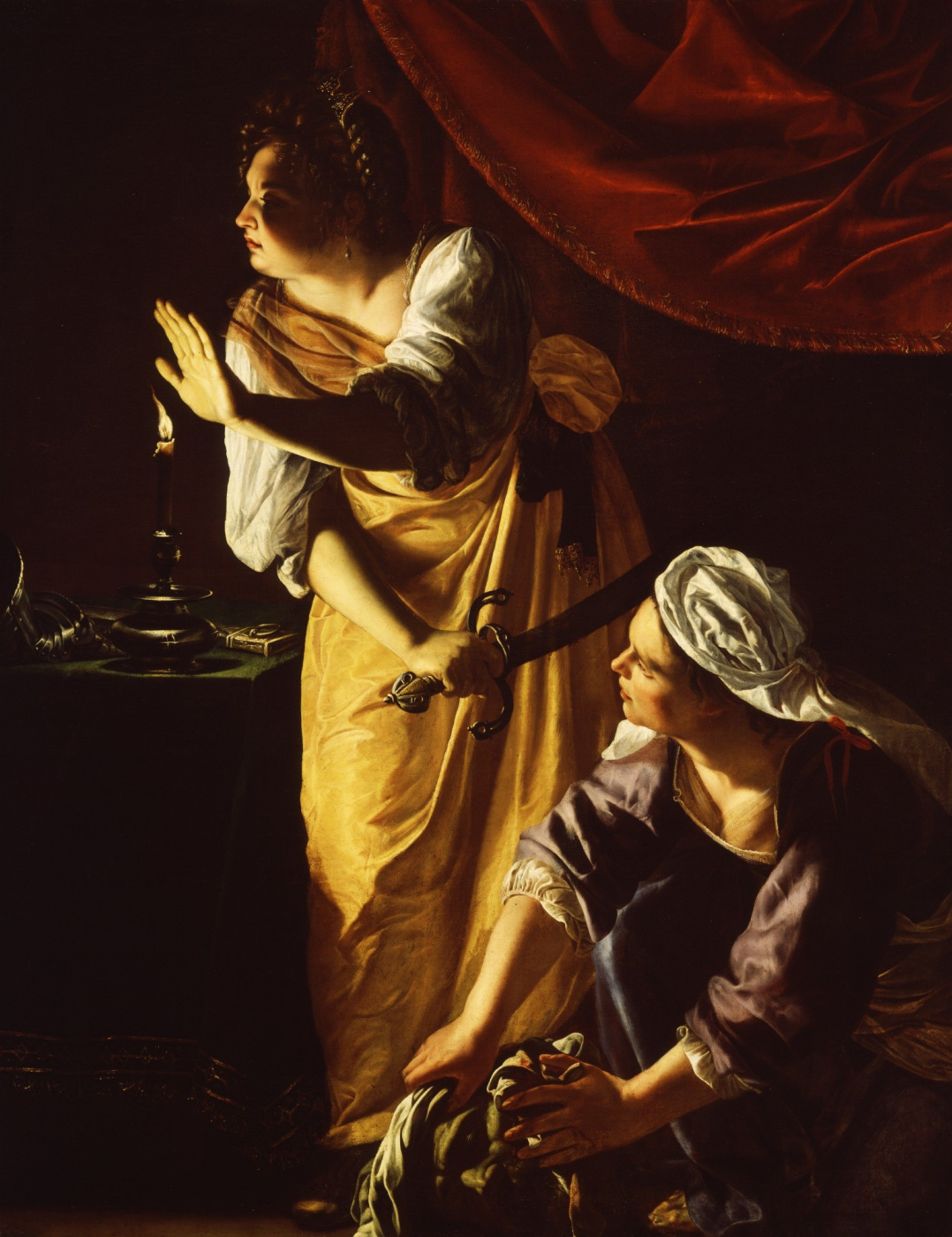 Artemisia Gentileschi. Judith and her maid with Holofernes head