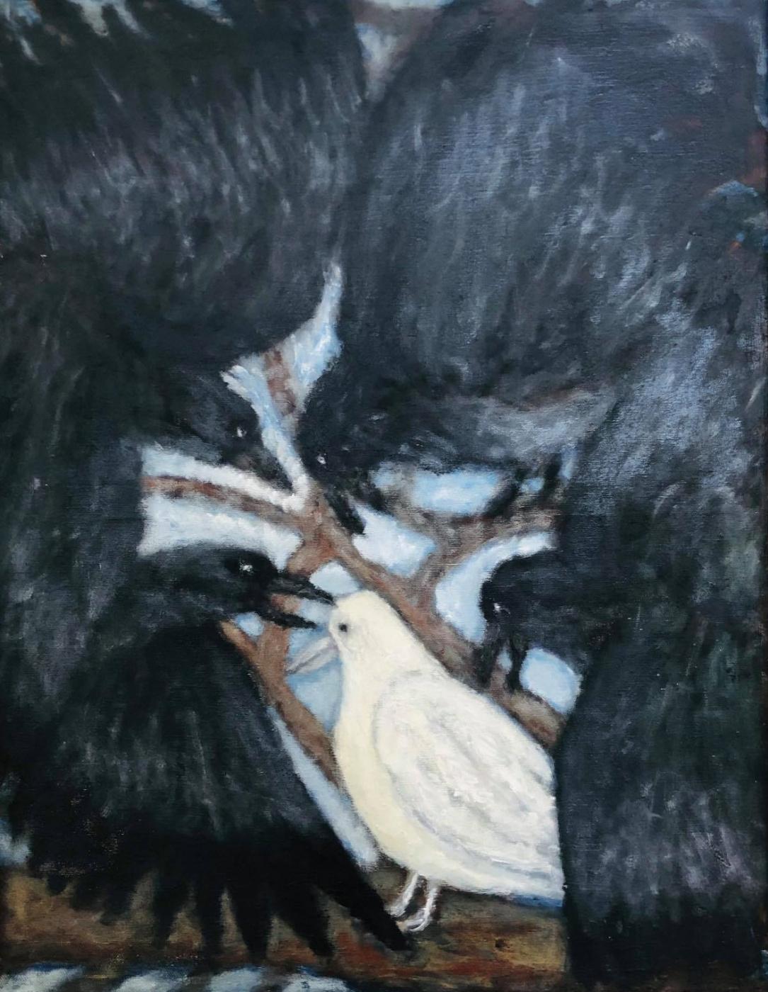 Andrey Victorovich Schekutev. WHITE CROW oil on canvas