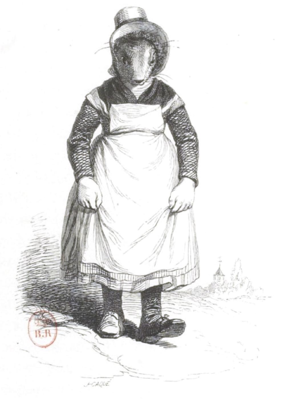 "Jean Inias Isidore (Gerard) Granville. Nurse. ""Scenes of public and private life of animals"""