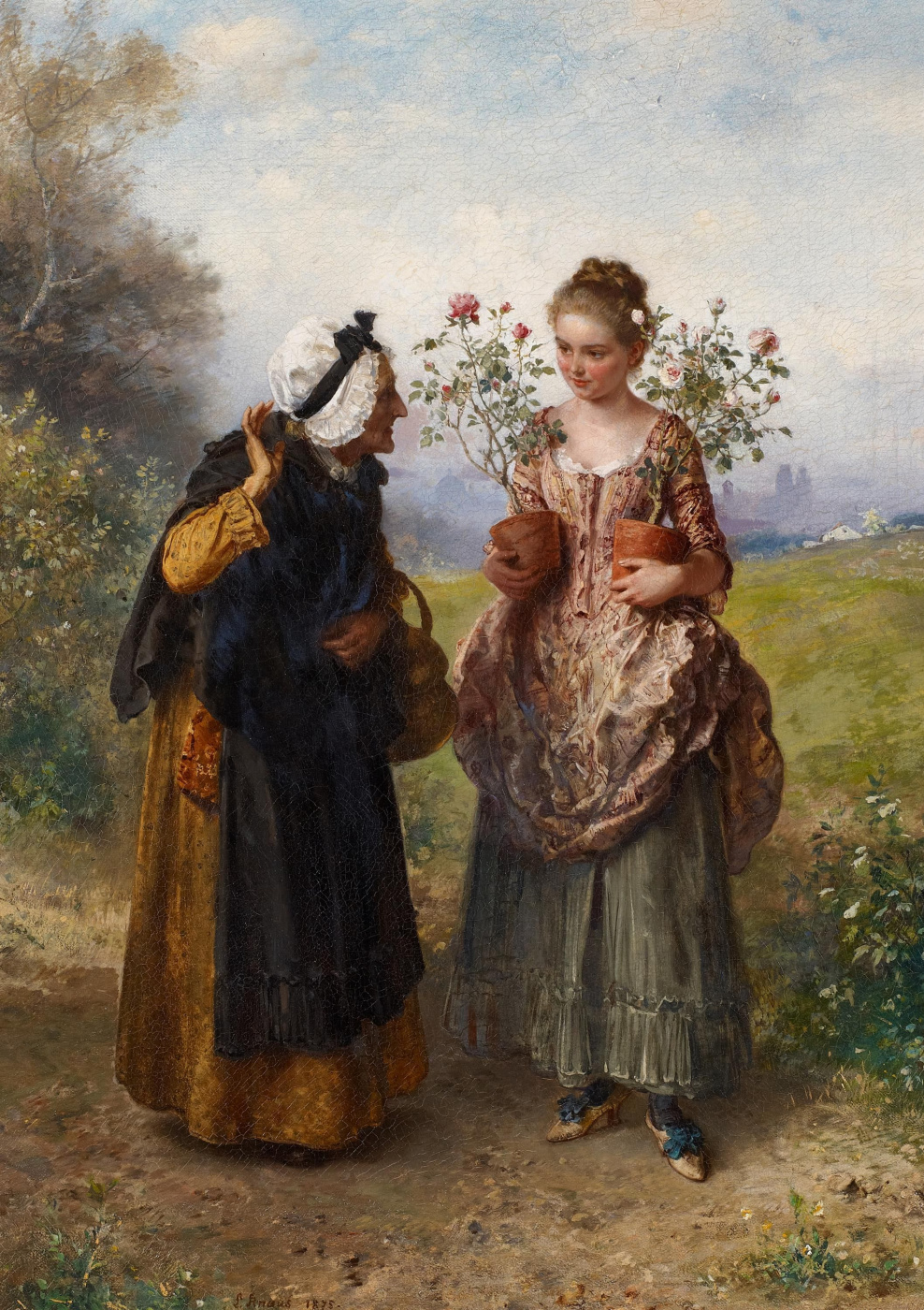 Ludwig Knaus. Thorns and roses