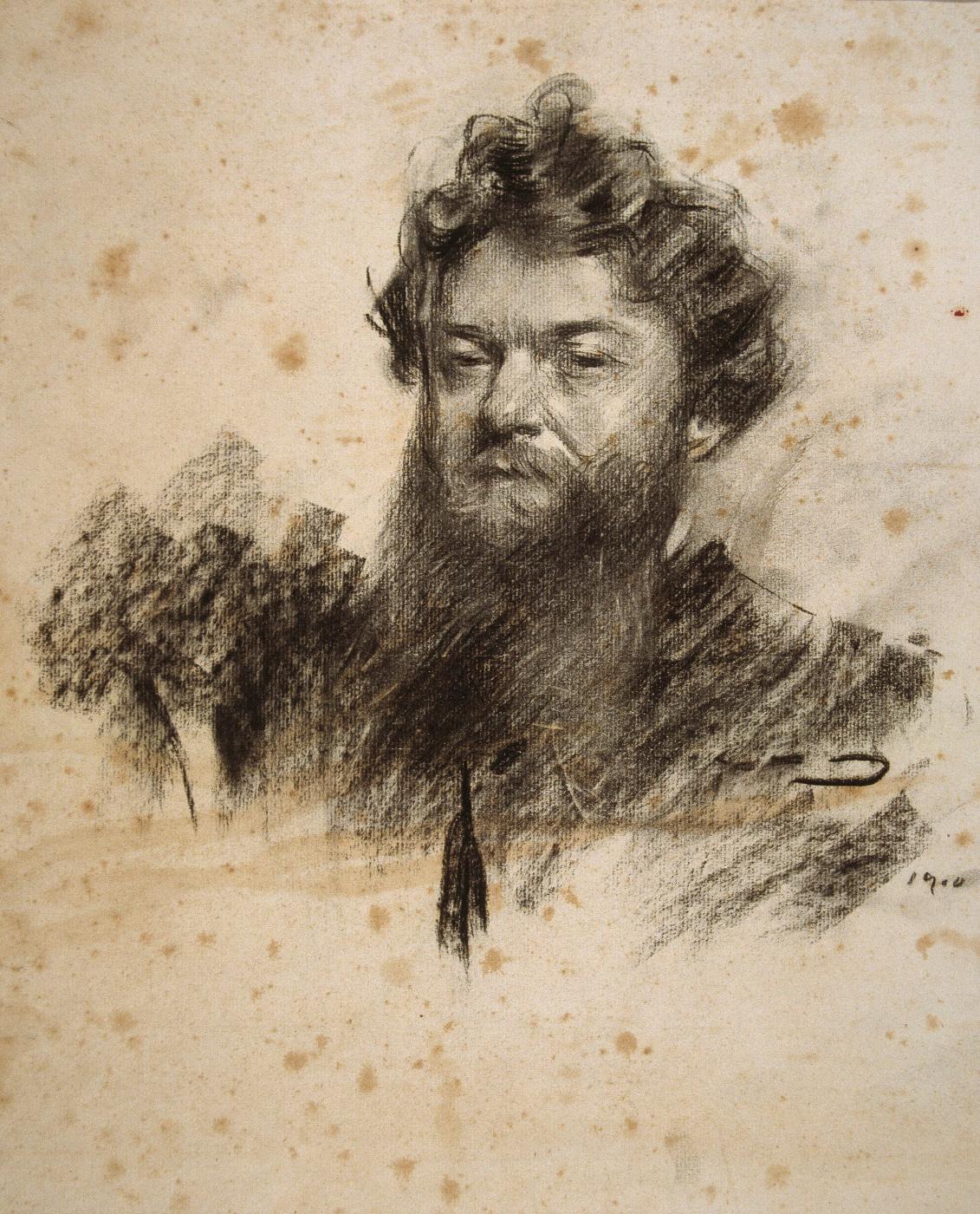 Ramon Casas i Carbó. Portrait of Charles Kotte