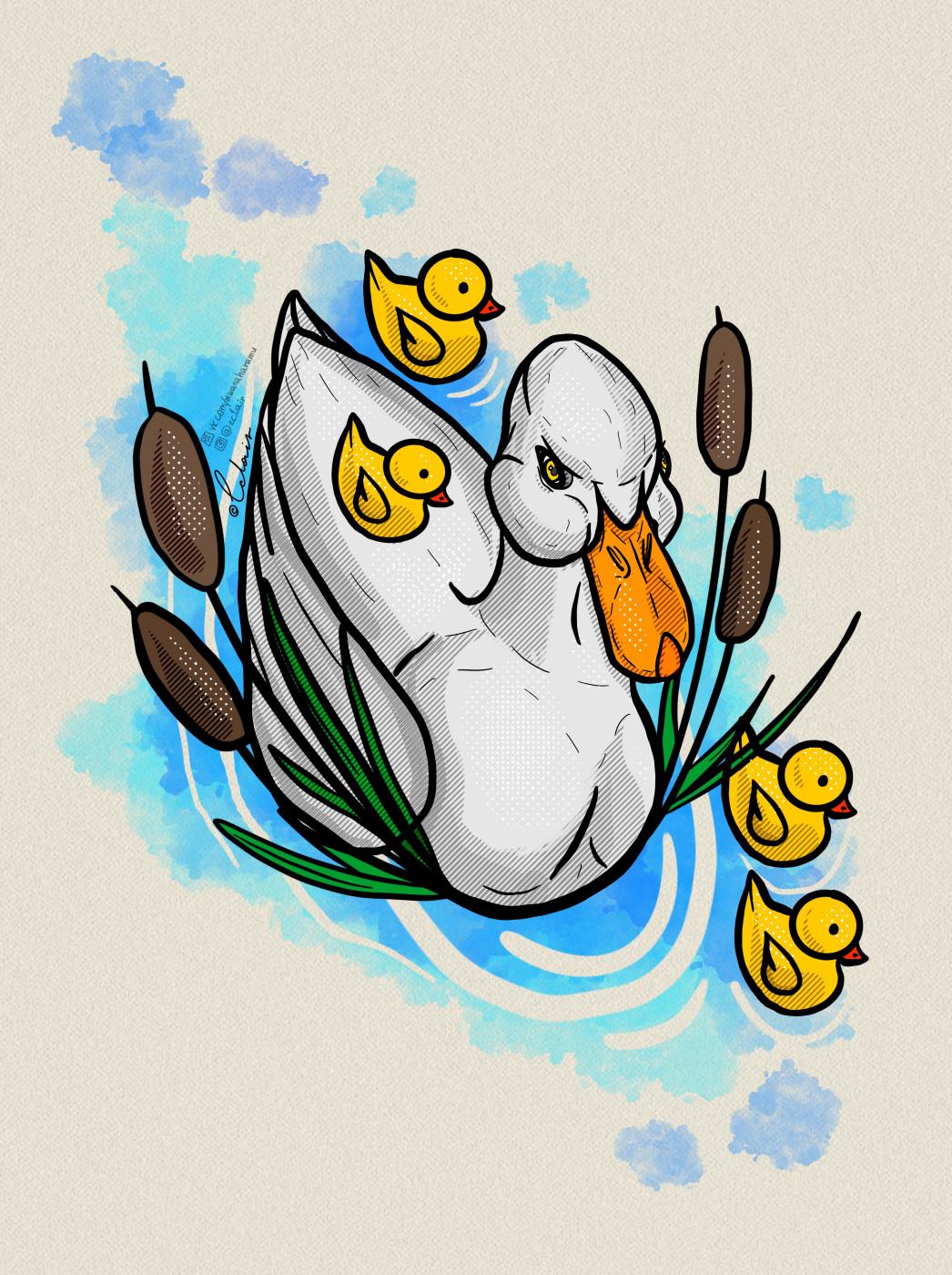 Lera Ec1air. Family duck