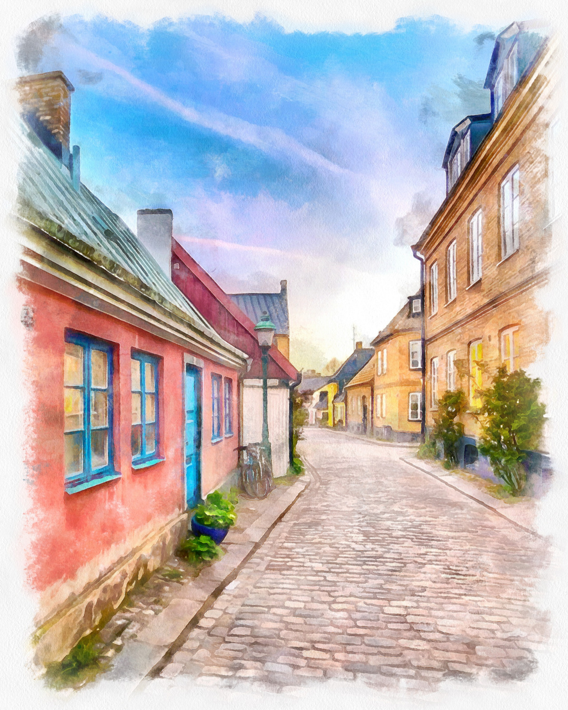 Melrom. Street in the city of Lund.