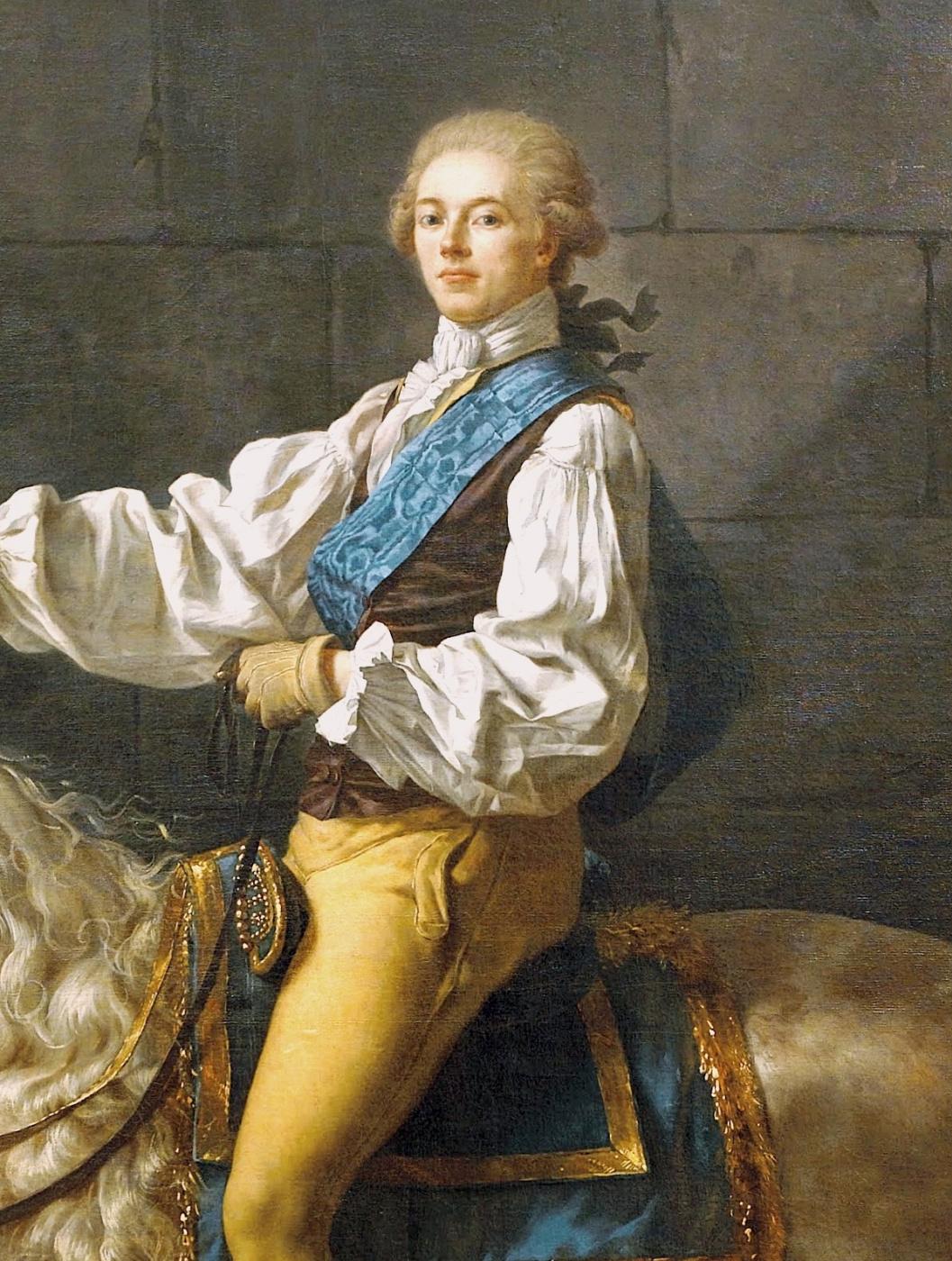 Jacques-Louis David. Portrait of count Potocki. Fragment II