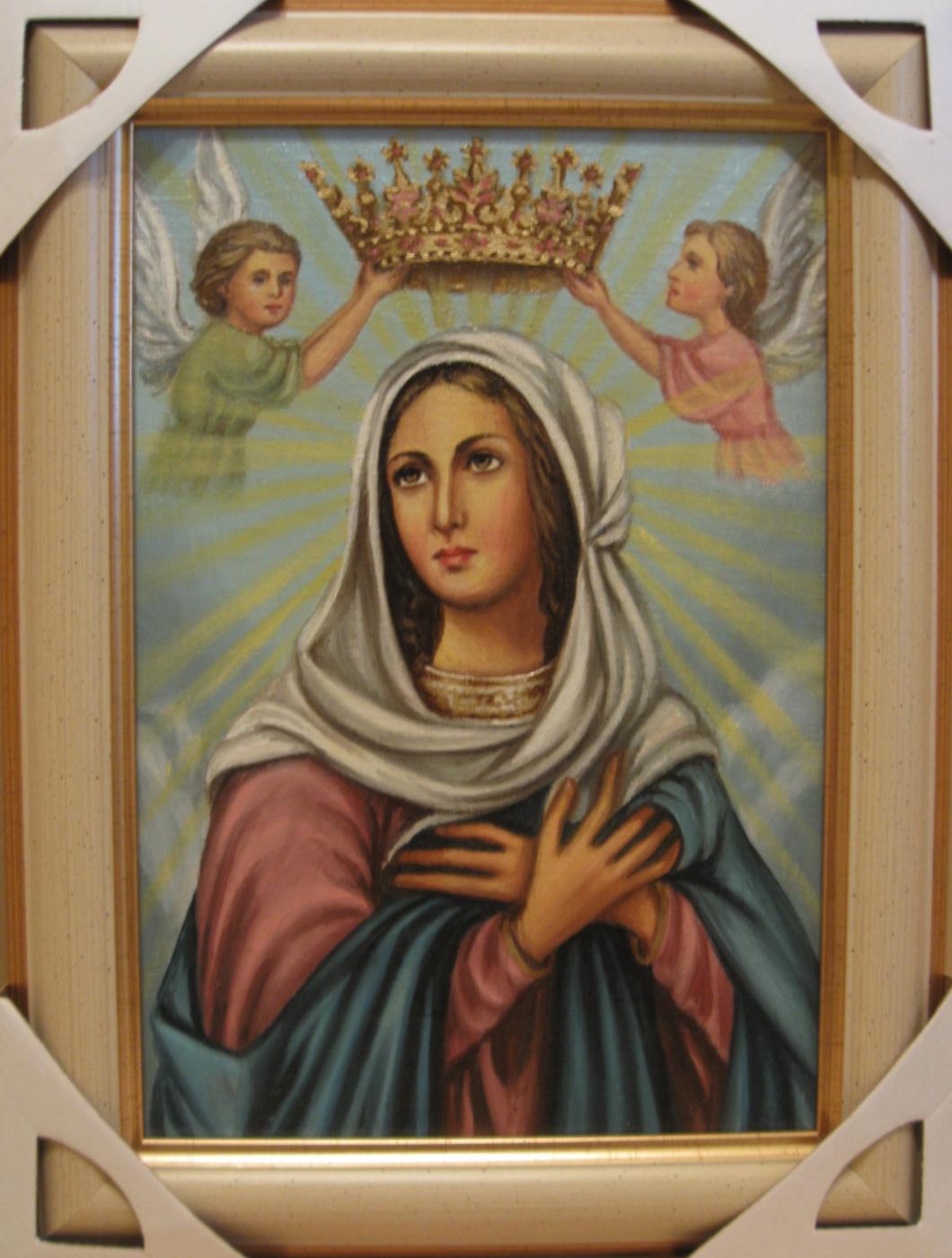 Jadwiga Senko. Mary Queen Catholic icon