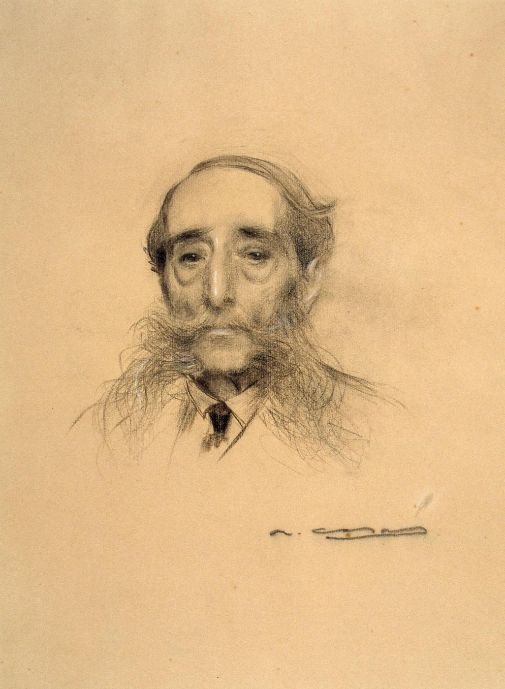Ramon Casas i Carbó. Portrait of Maurizi Vilomar