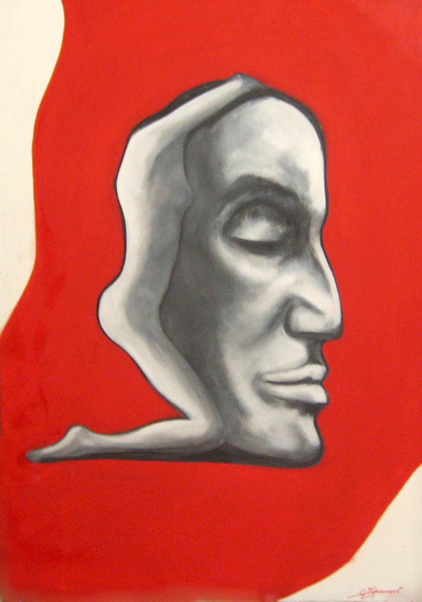 Stanislav Ukrainians. The Thinker.2008. canvas, oil 100x70