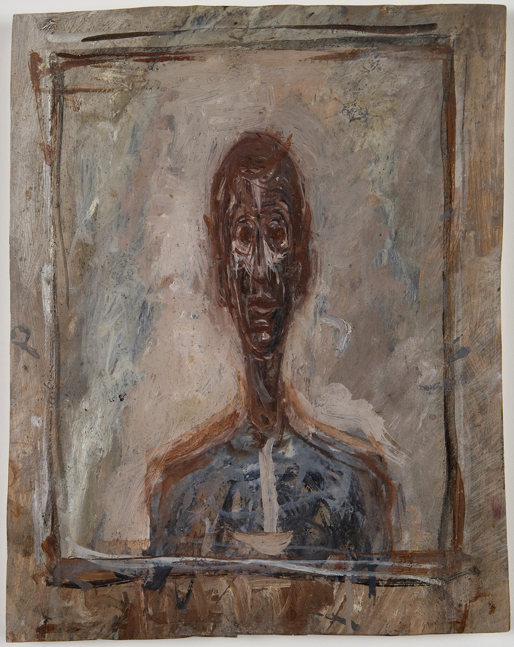 Alberto Giacometti. Bust of a man in the frame