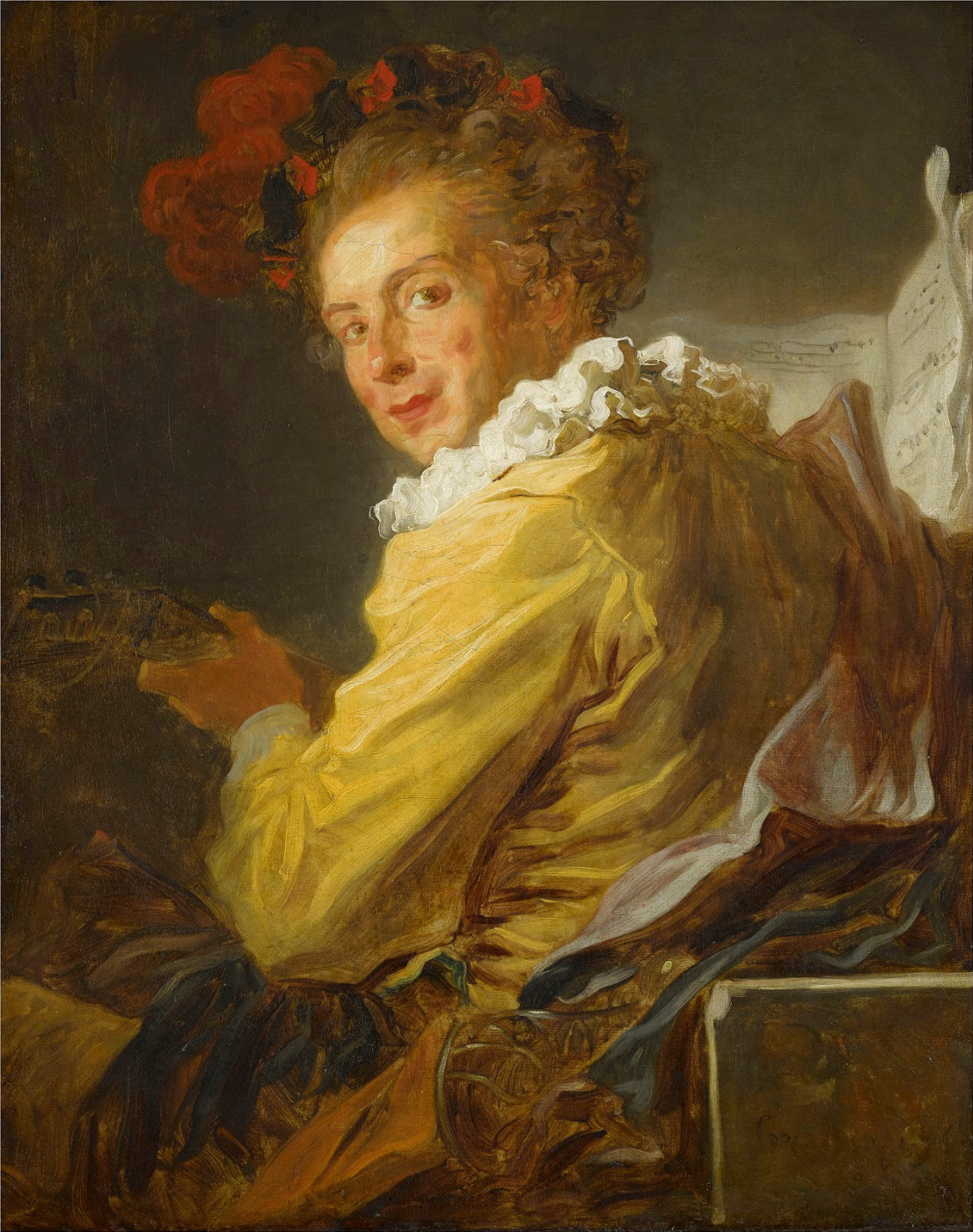 Jean-Honore Fragonard. Portrait of Monsieur de La Breteche