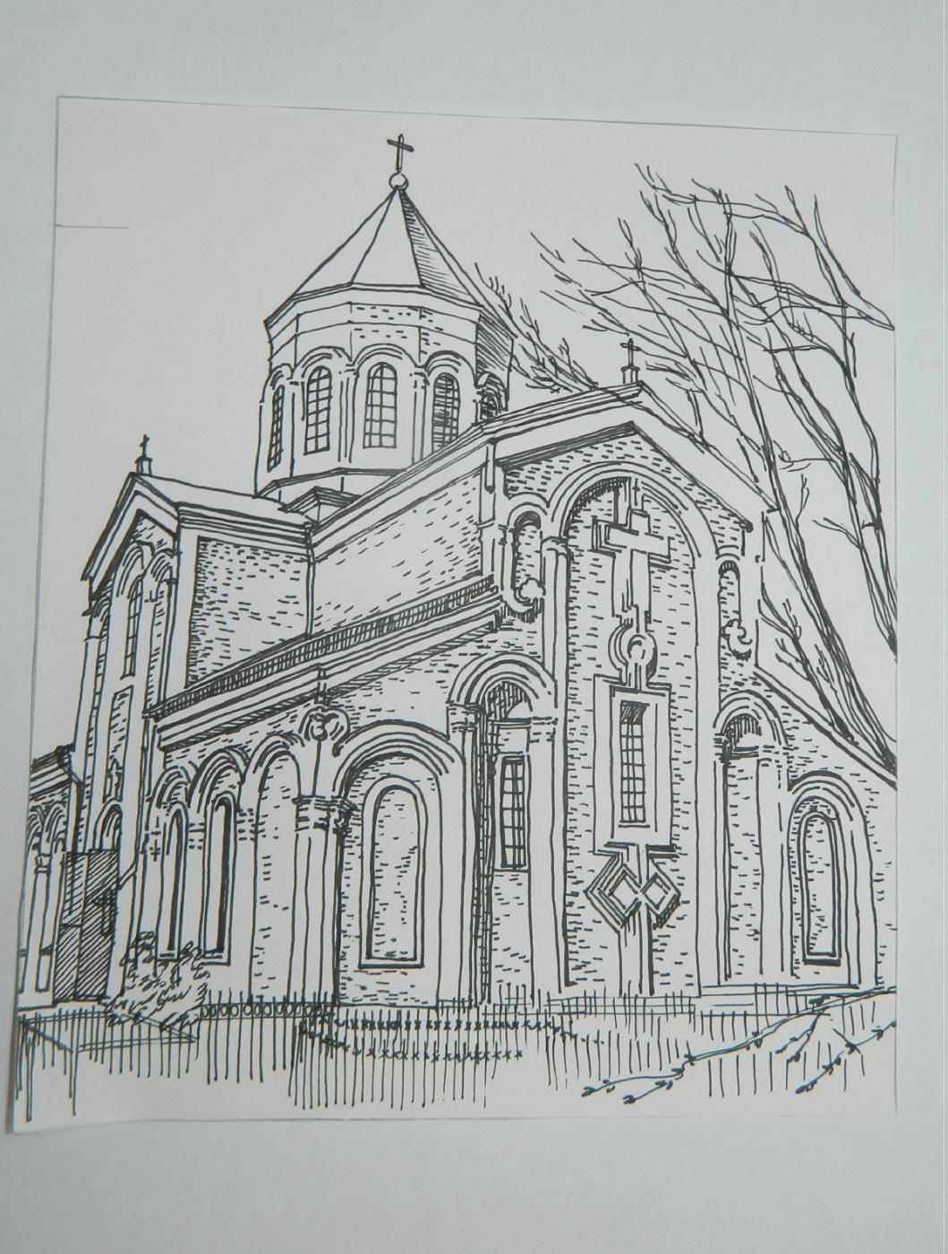 Olga Evgenevna Klimova. Gregorian Church on Kayani St. Rostov-on-Don