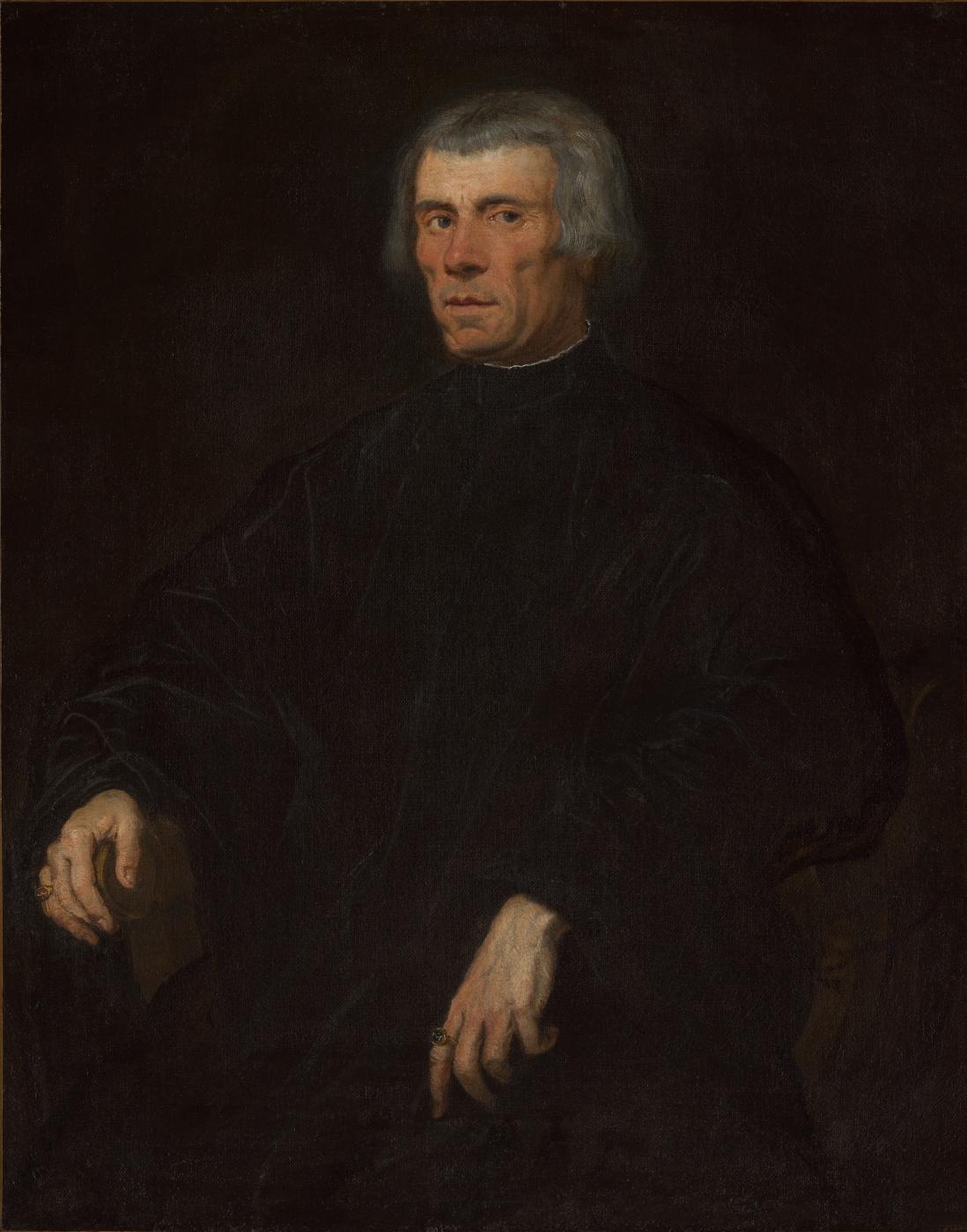 Jacopo (Robusti) Tintoretto. Portrait of a Flemish merchant