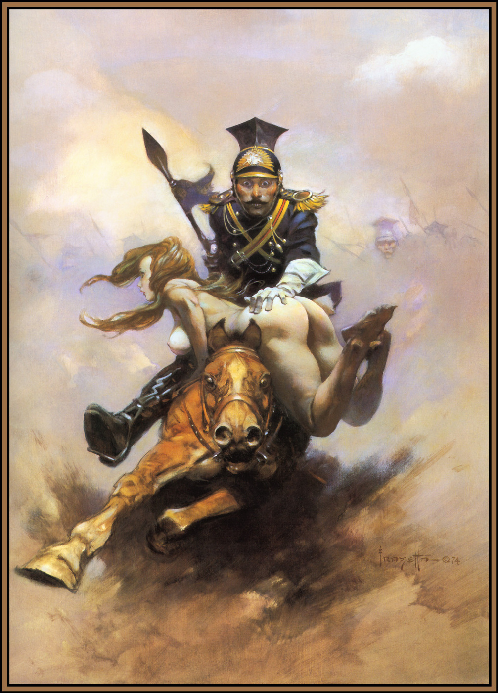 Frank Frazetta. On horseback