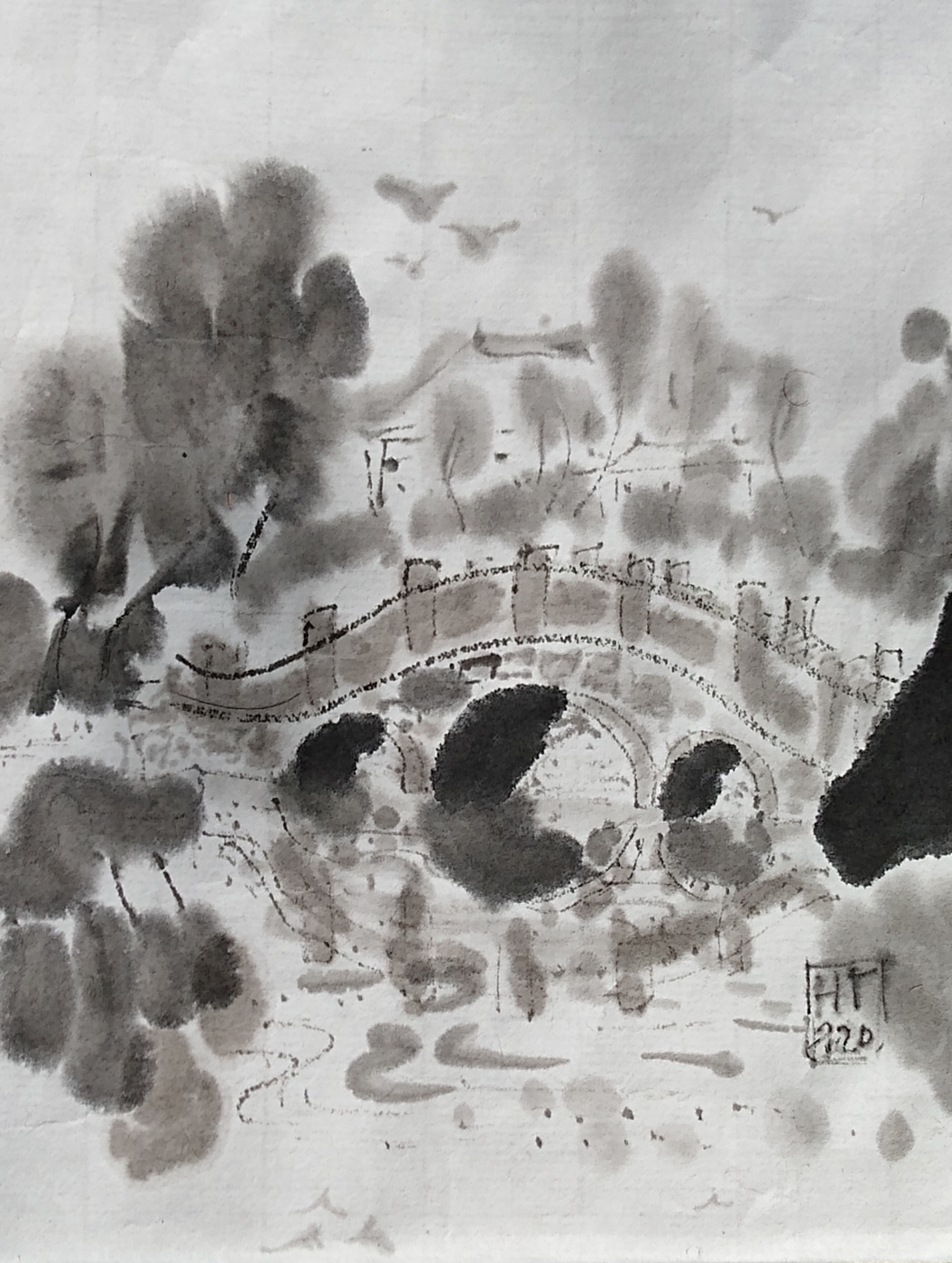 Natalya Garber. A stone bridge