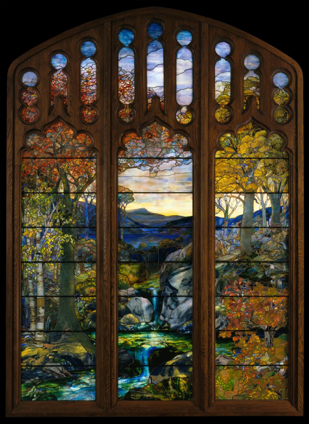 Louis Comfort Tiffany. Autumn landscape