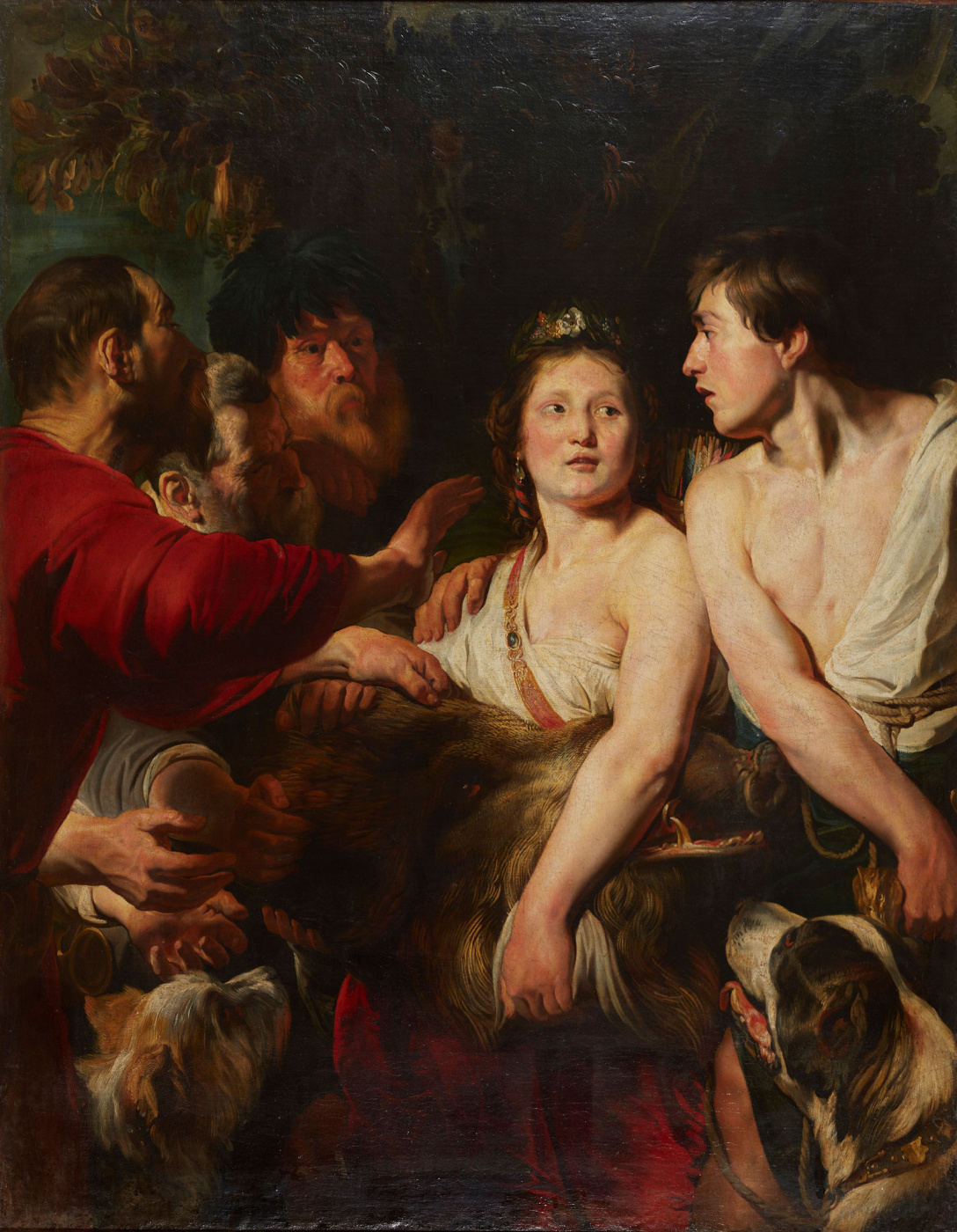 Jacob Jordaens. Meleager and Atalanta