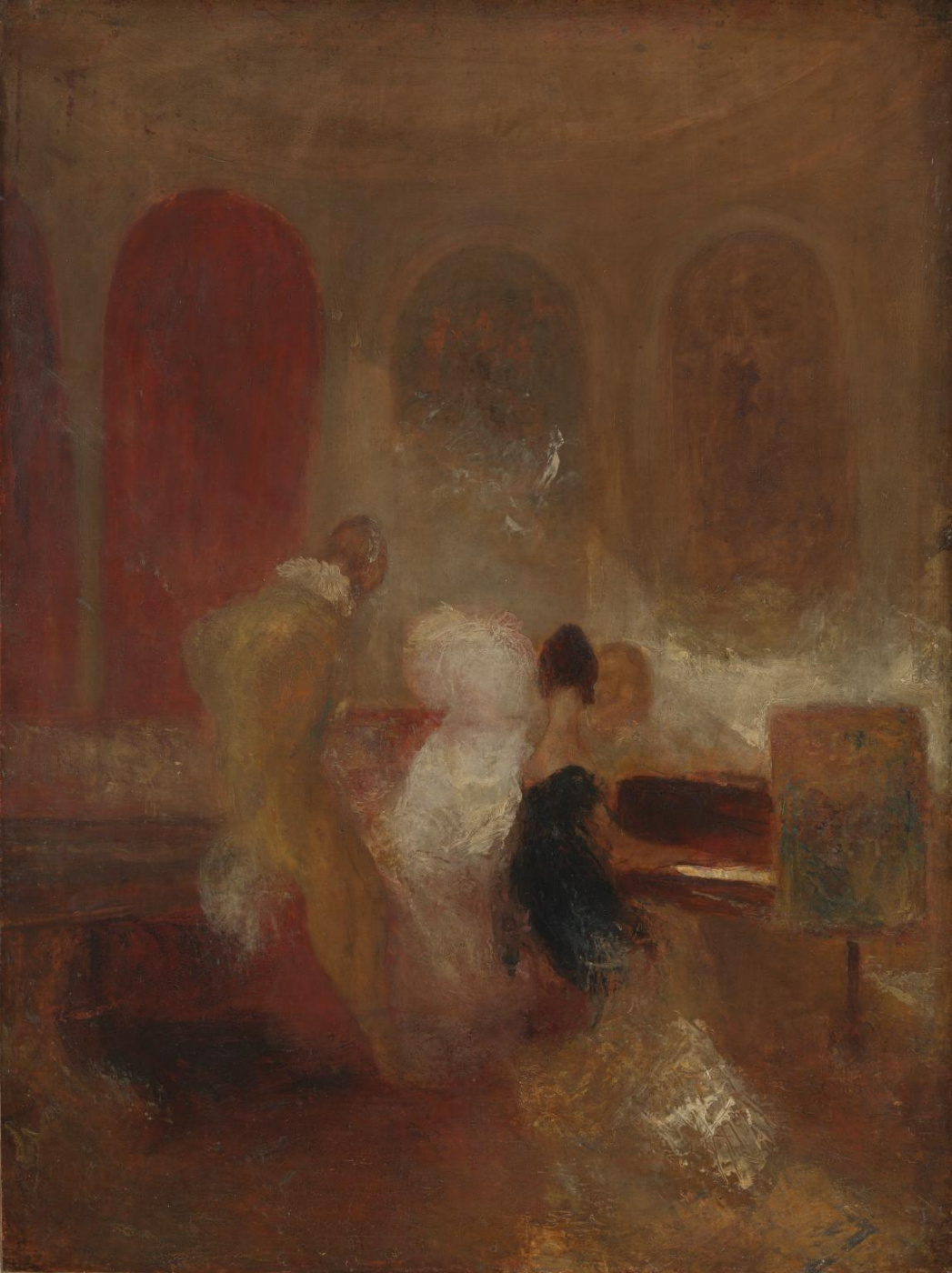Joseph Mallord William Turner. Musical evening in the castle East Cowes