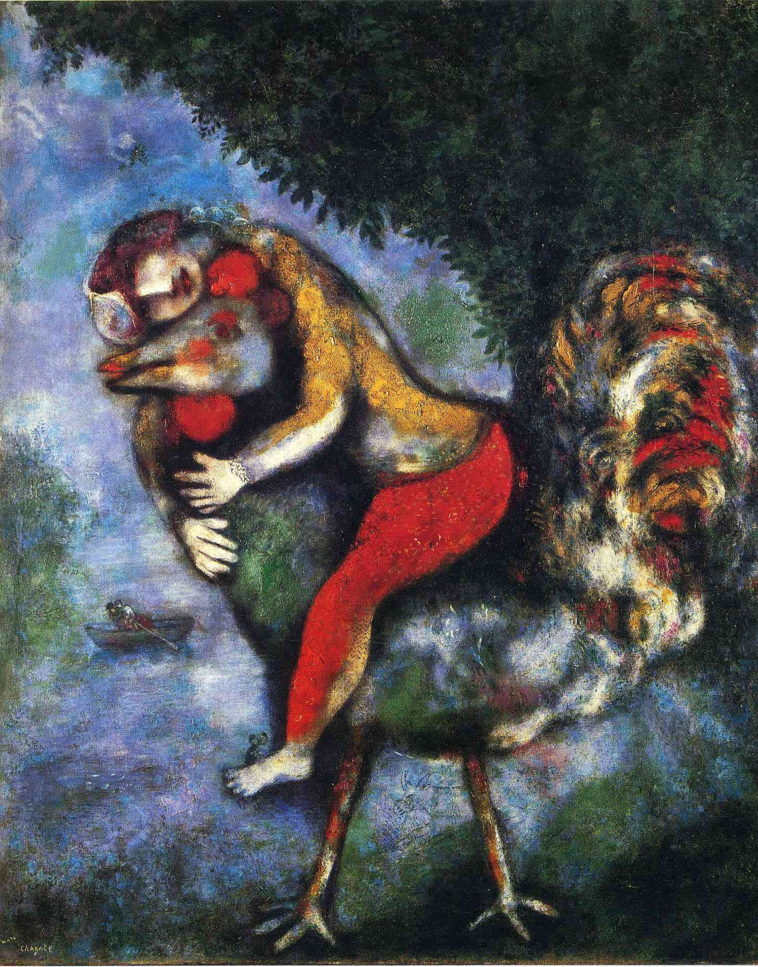 Marc Chagall. Cock