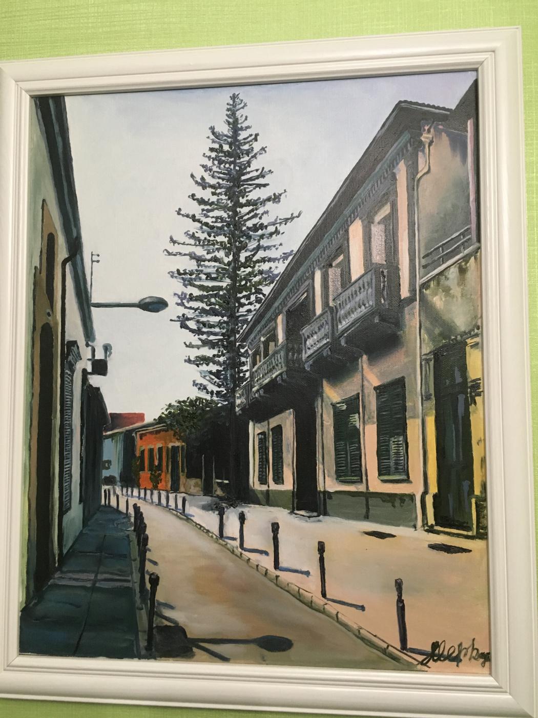 Julia Merkushina. Street in Limassol