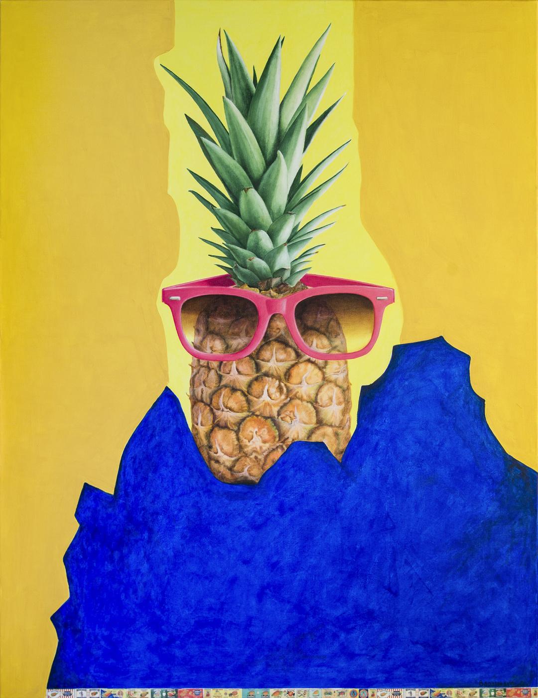 """Natalia Bagatskaya. Pop Art Acrylic Painting """"Hot summer. Hawaii..."""""""
