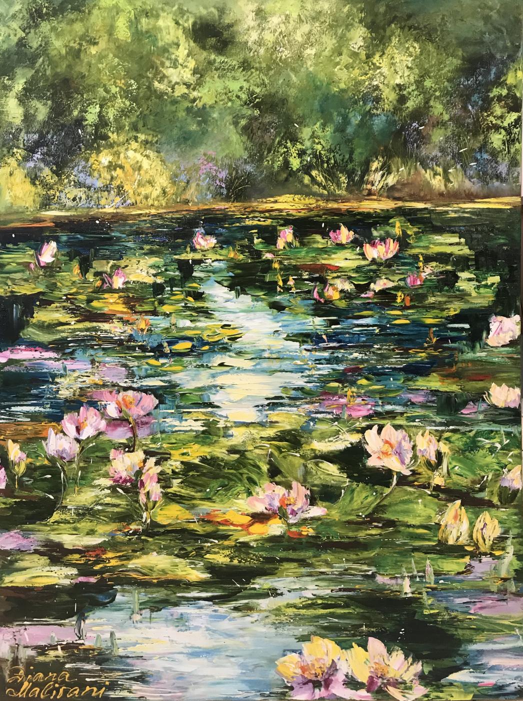 Диана Владимировна Маливани. Pond with Water Liles