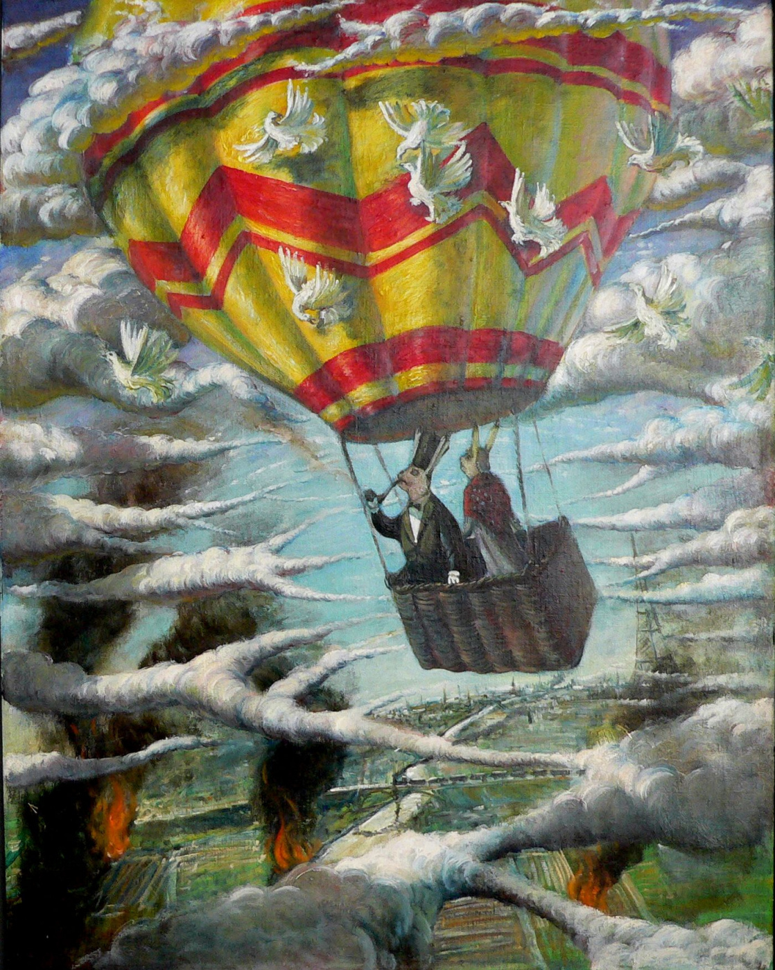 Sergey Viktorovich Solomatin. Hot air balloon rabbits
