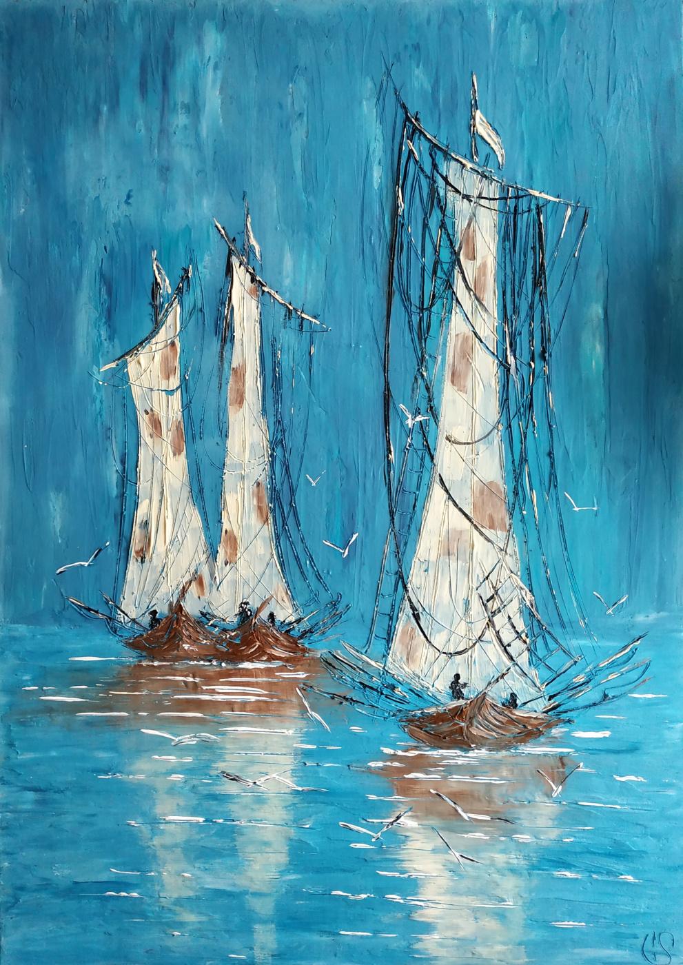 Irina Stukaneva. Sailing boats.