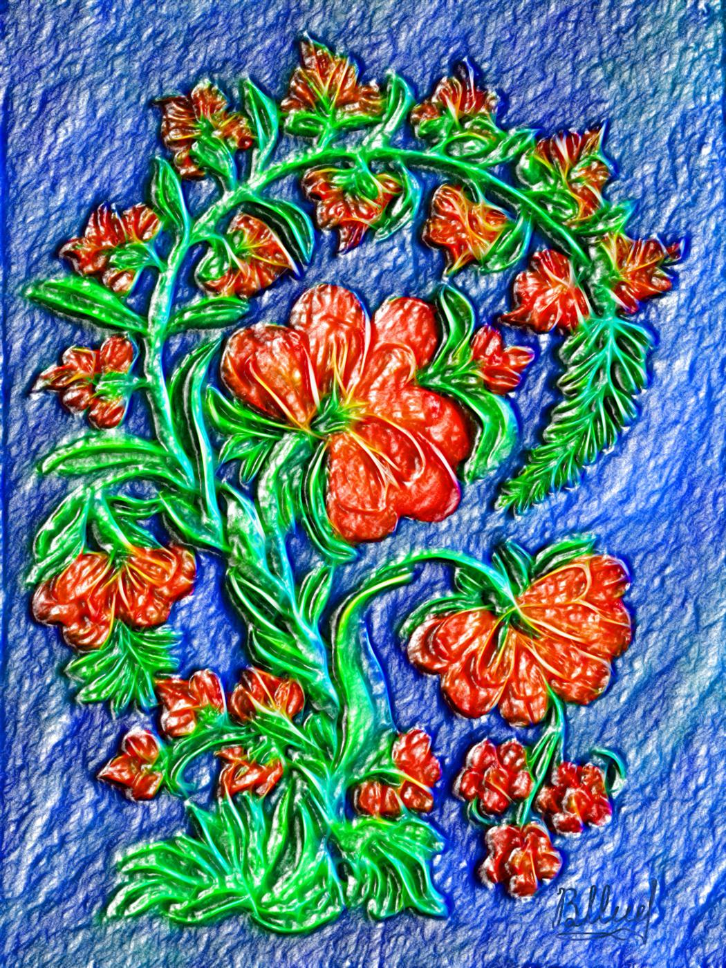 Vasiliy Mishchenko.  Scarlet flowers