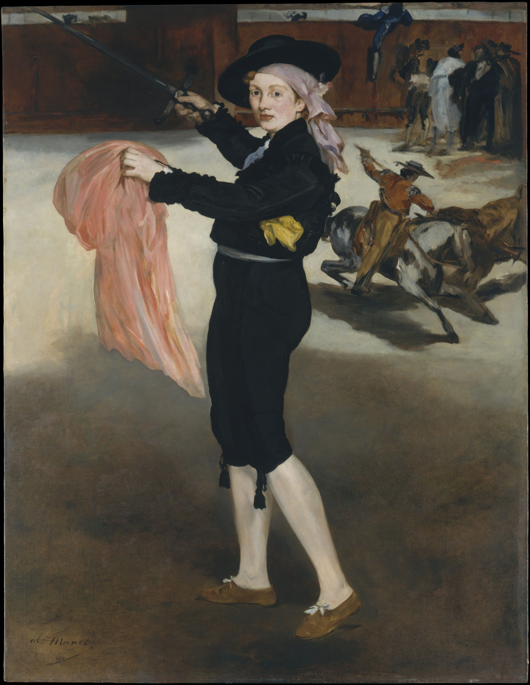 Edouard Manet. Portrait of Mademoiselle Quiz dressed as a toreador