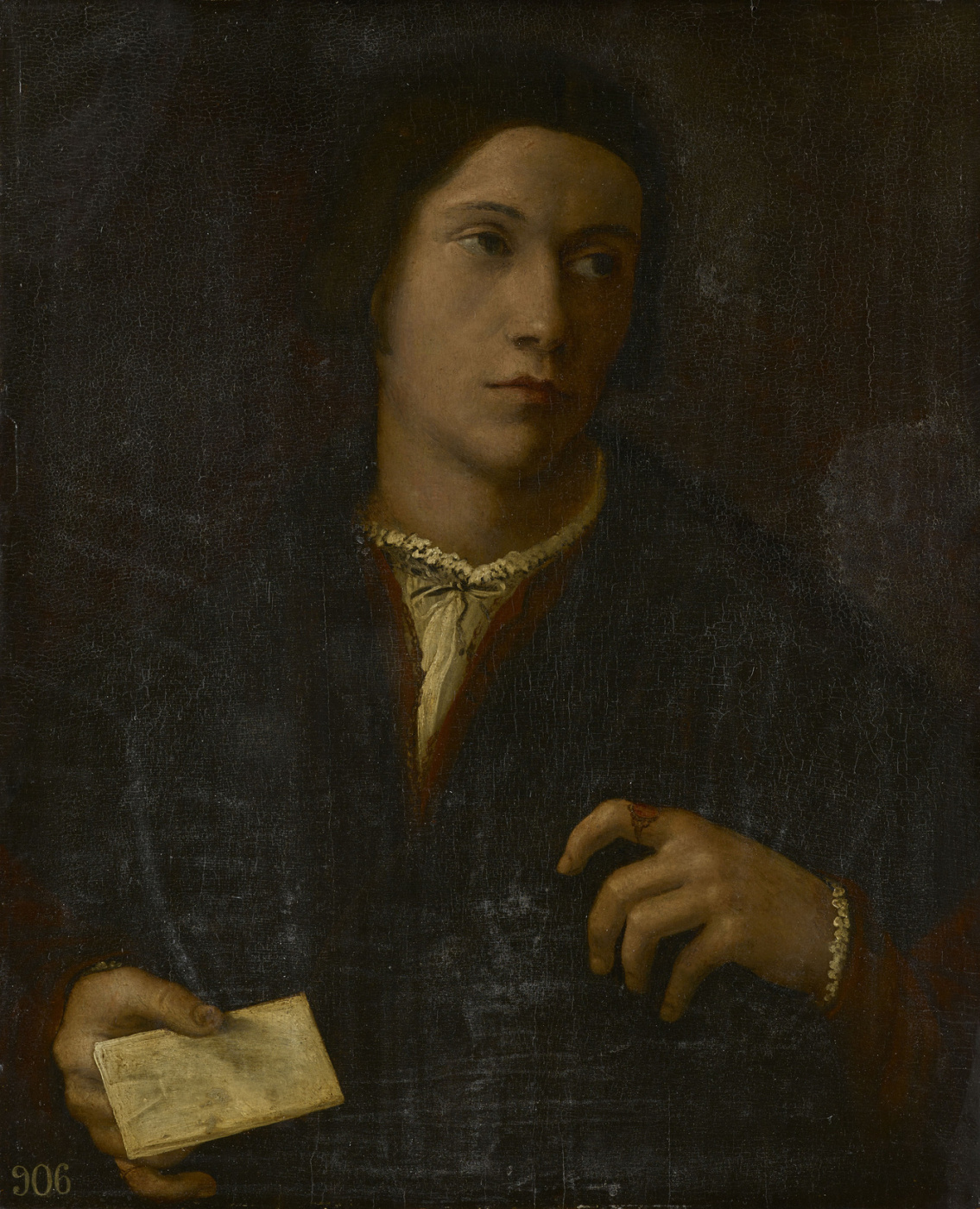 Giulio Campi. Portrait of a young man