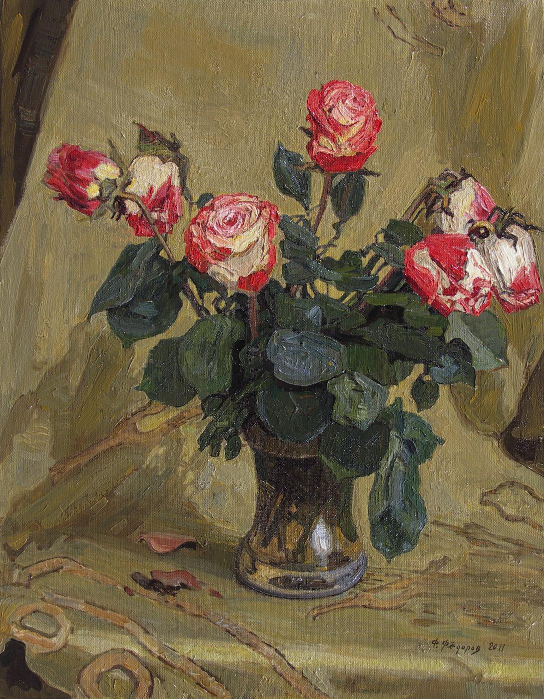 Фёдор Борисович Фёдоров. Roses on gold