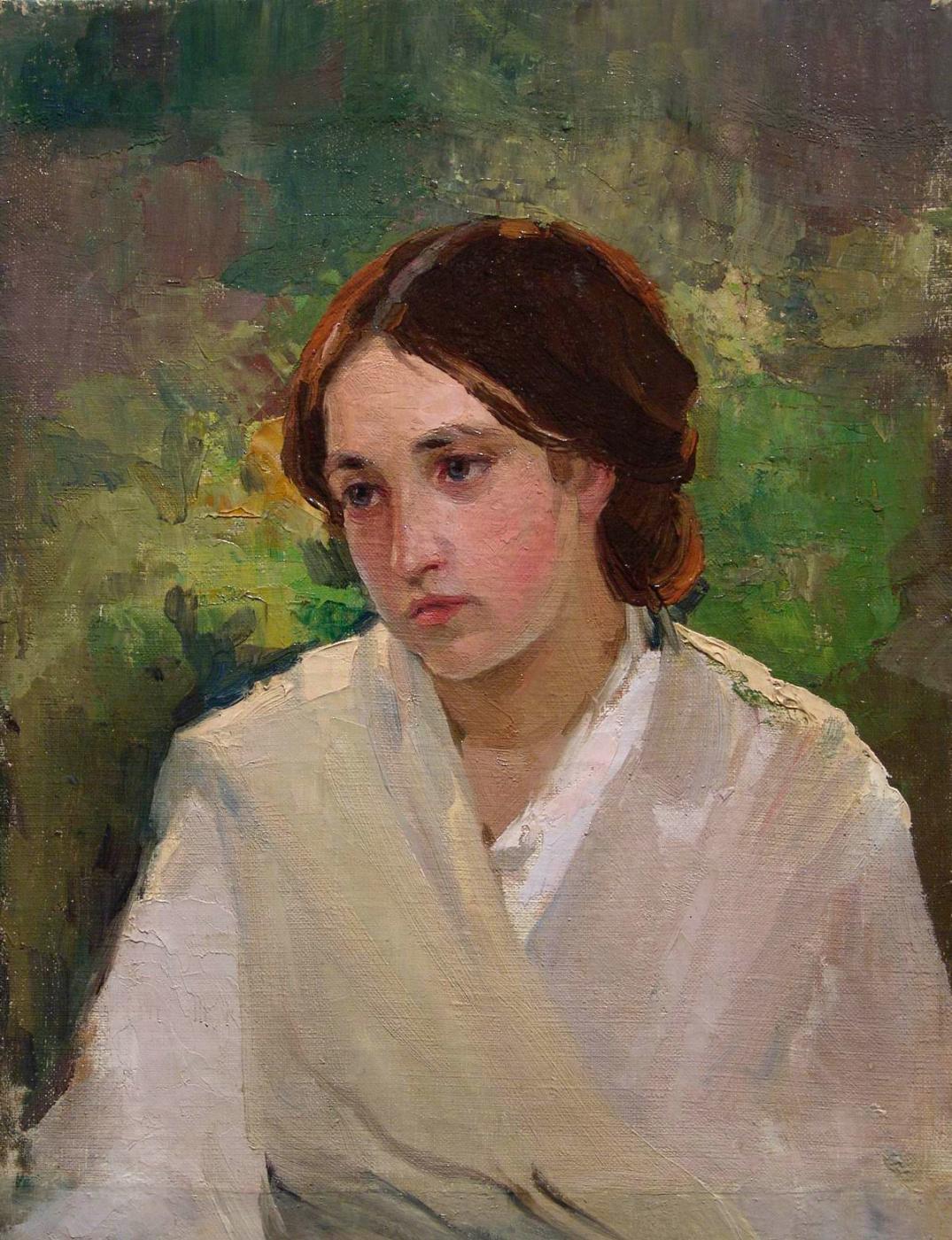 Mikhail Vasilyevich Nesterov. Portrait of a girl