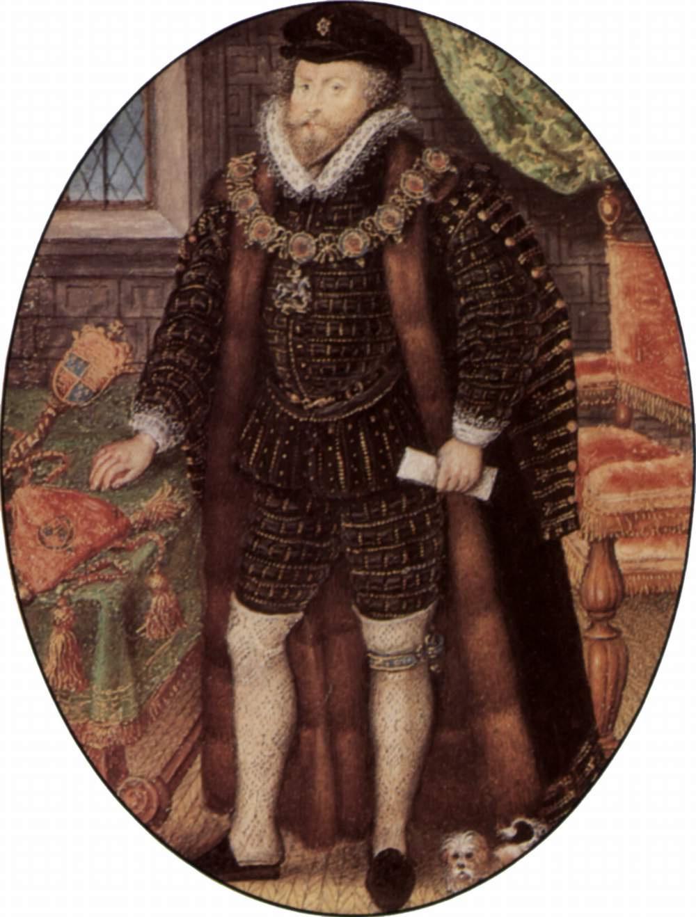 Nicolas Hilliard. Portrait of sir Christopher Hatton
