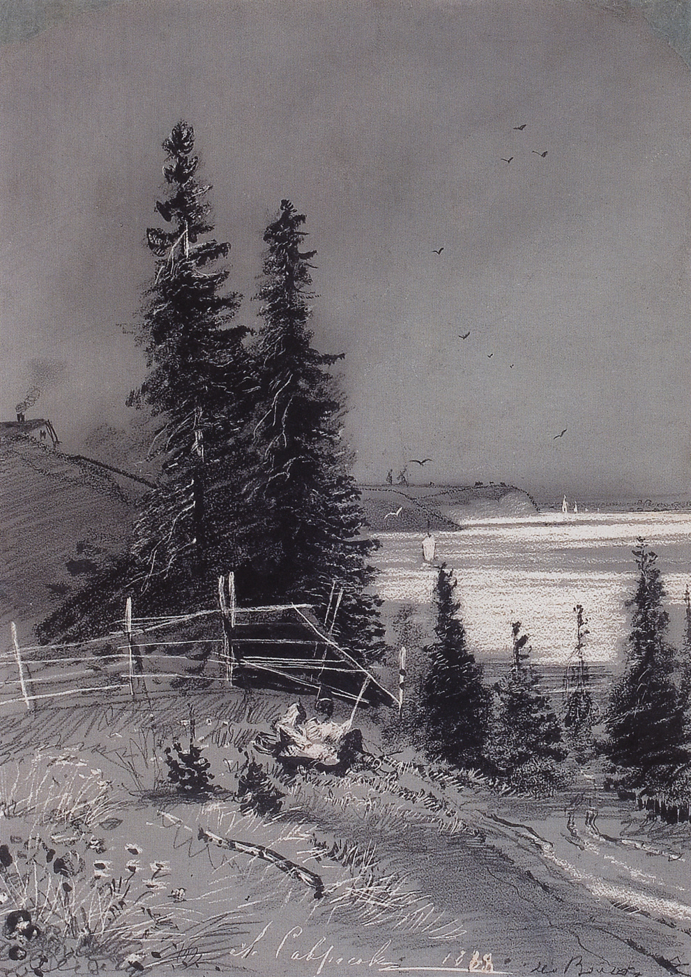 Alexey Savrasov. The descent to the river