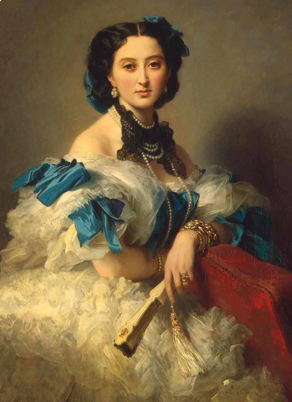 Franz Xaver Winterhalter. Portrait of Countess Varvara Alekseyevna Musina-Pushkina. Fragment