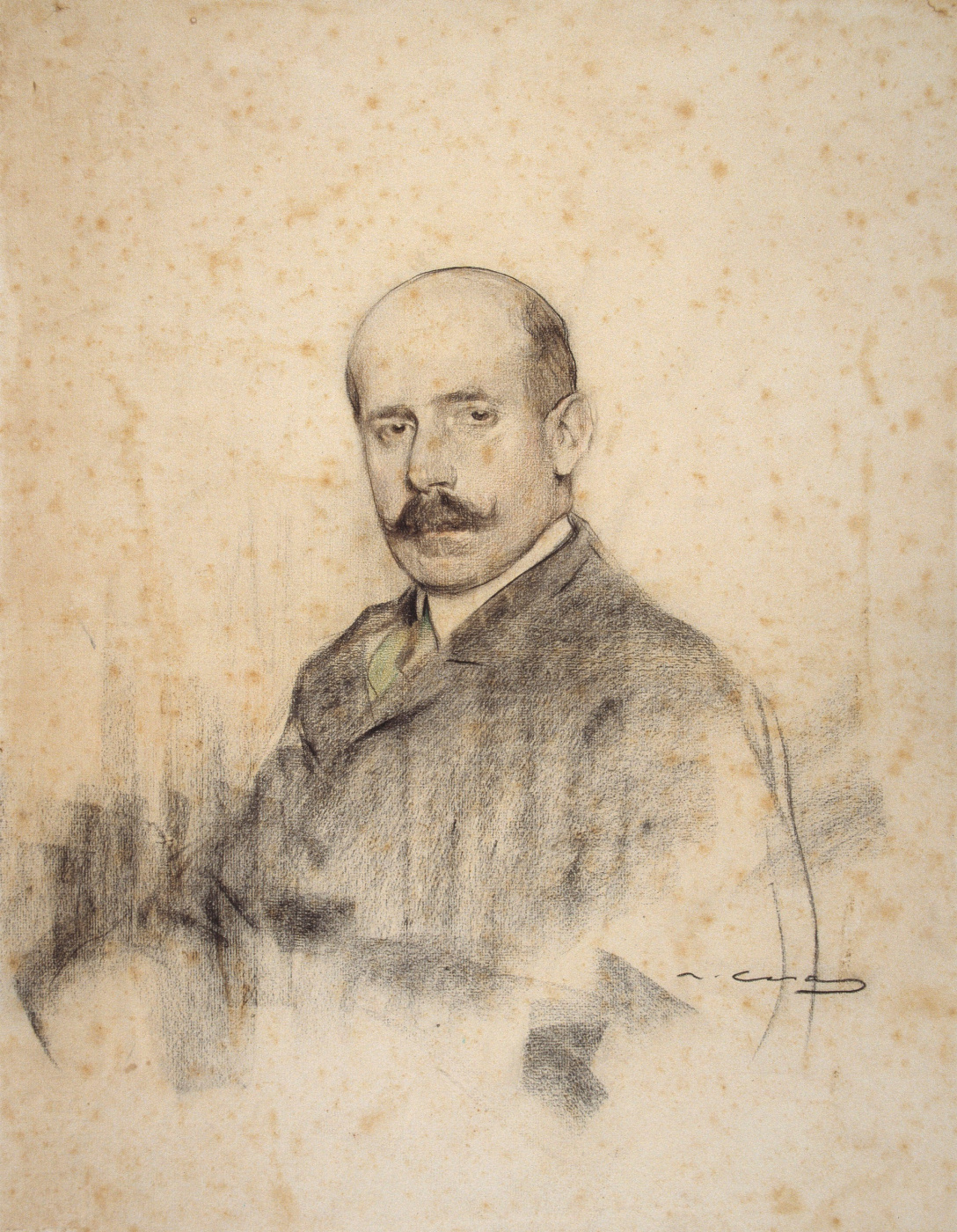 Ramon Casas i Carbó. Portrait of Ignacio Zuloagi