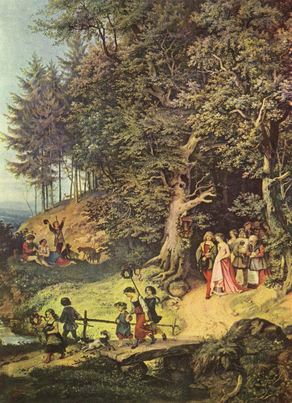 Adrian Ludwig Richter. Spring wedding