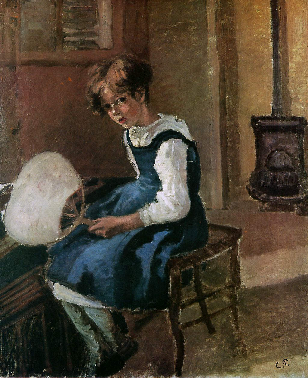 Camille Pissarro. Jeanne holding a fan