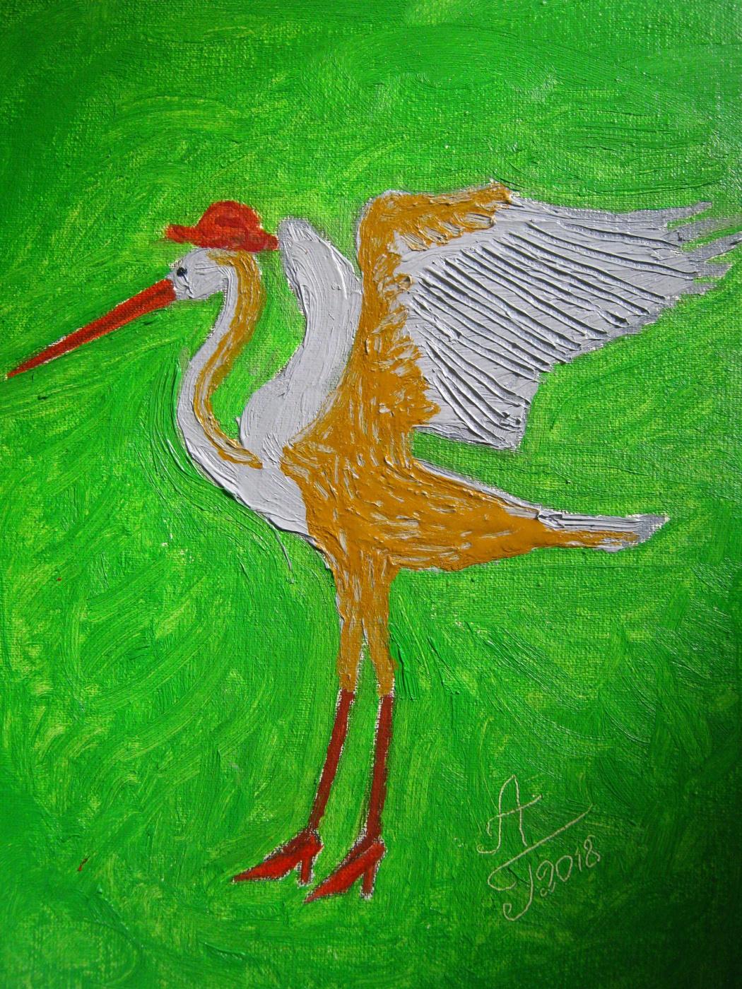 """Алексей Гришанков (Alegri). """"Dance of a Long Gray Heron"""""""