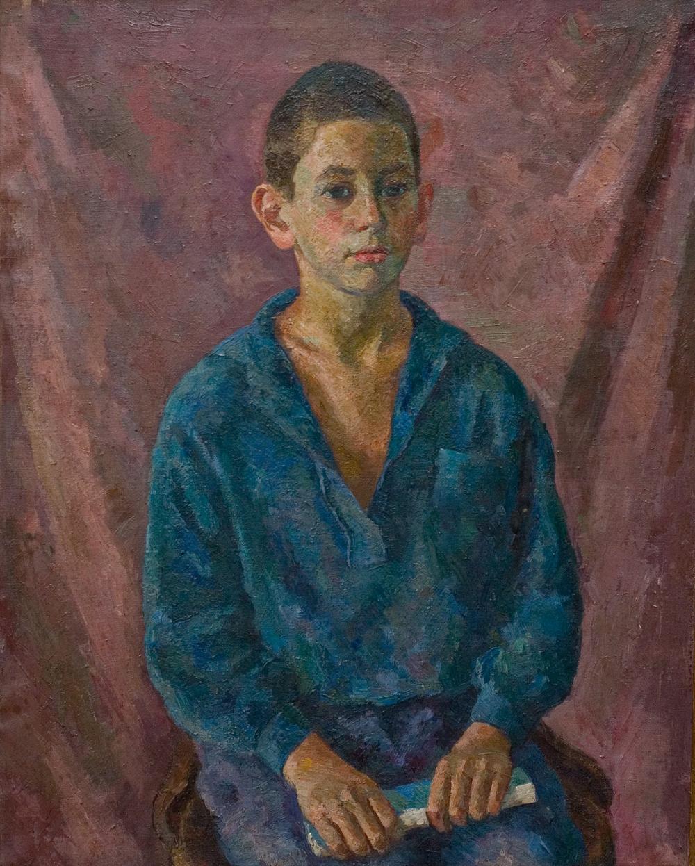 Robert Rafailovich Falk. Portrait of a boy with a book (Valery Falk)