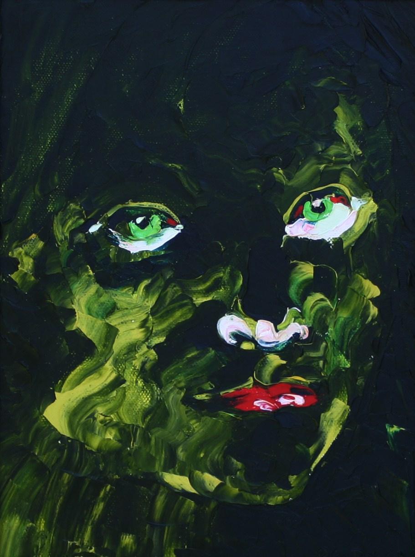 Kandinsky-DAE. Tosca Green. Oil on canvas, 40x30, 2006.
